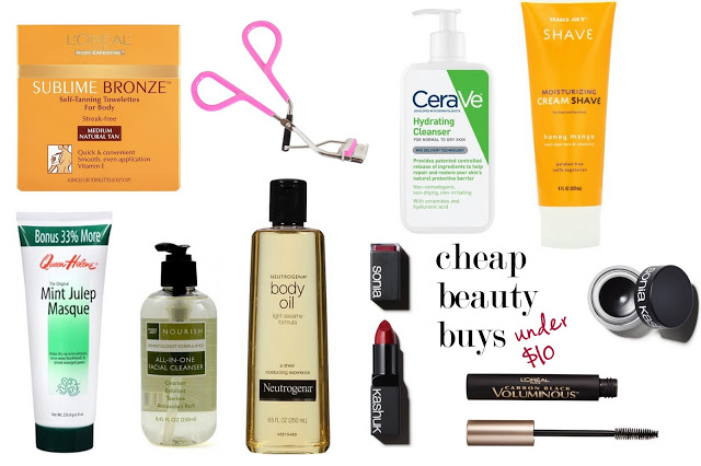 drugstore beauty favorites, cheap beauty products