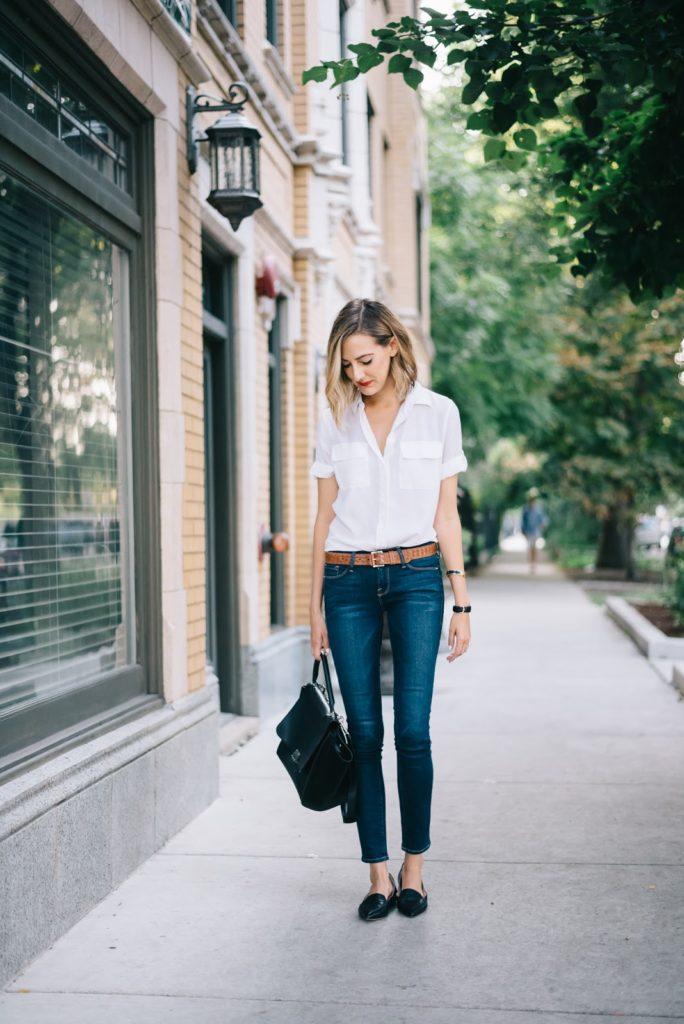 equipment blouse frame jeans
