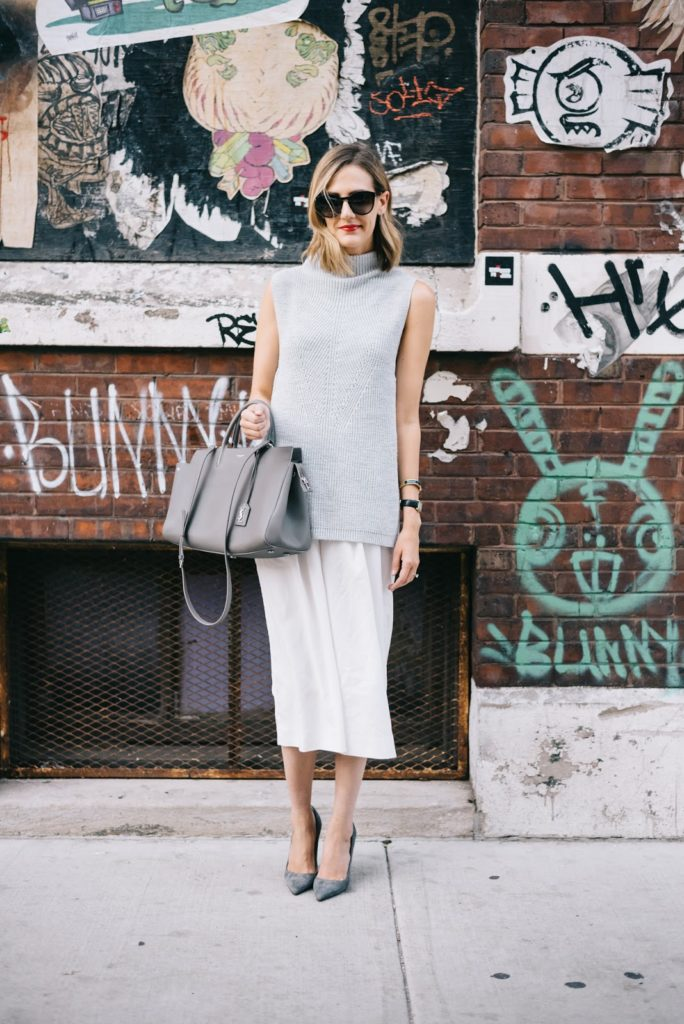 white culottes fall outfit