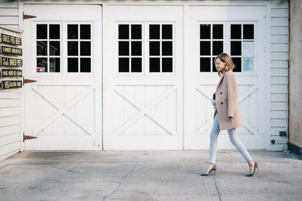 gray heels gray jeans