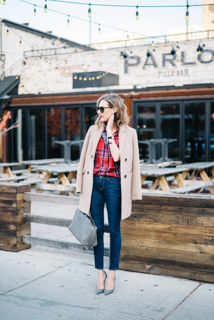 plaid flanner outfit