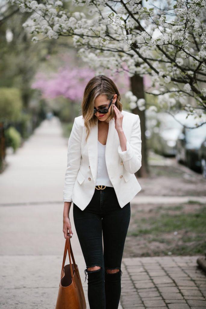 white blazer spring