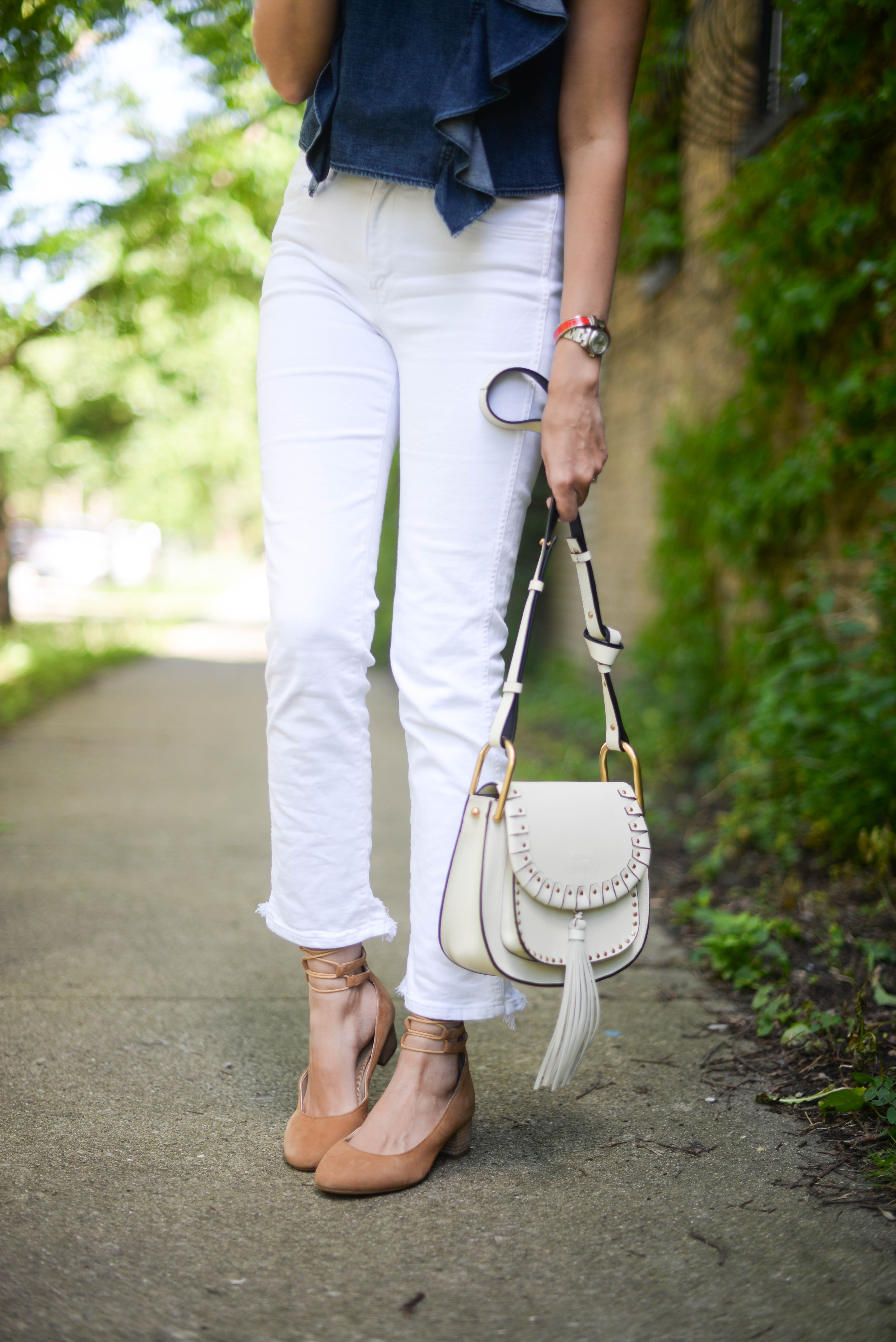 hushpuppies shoes chloe bag white jeans