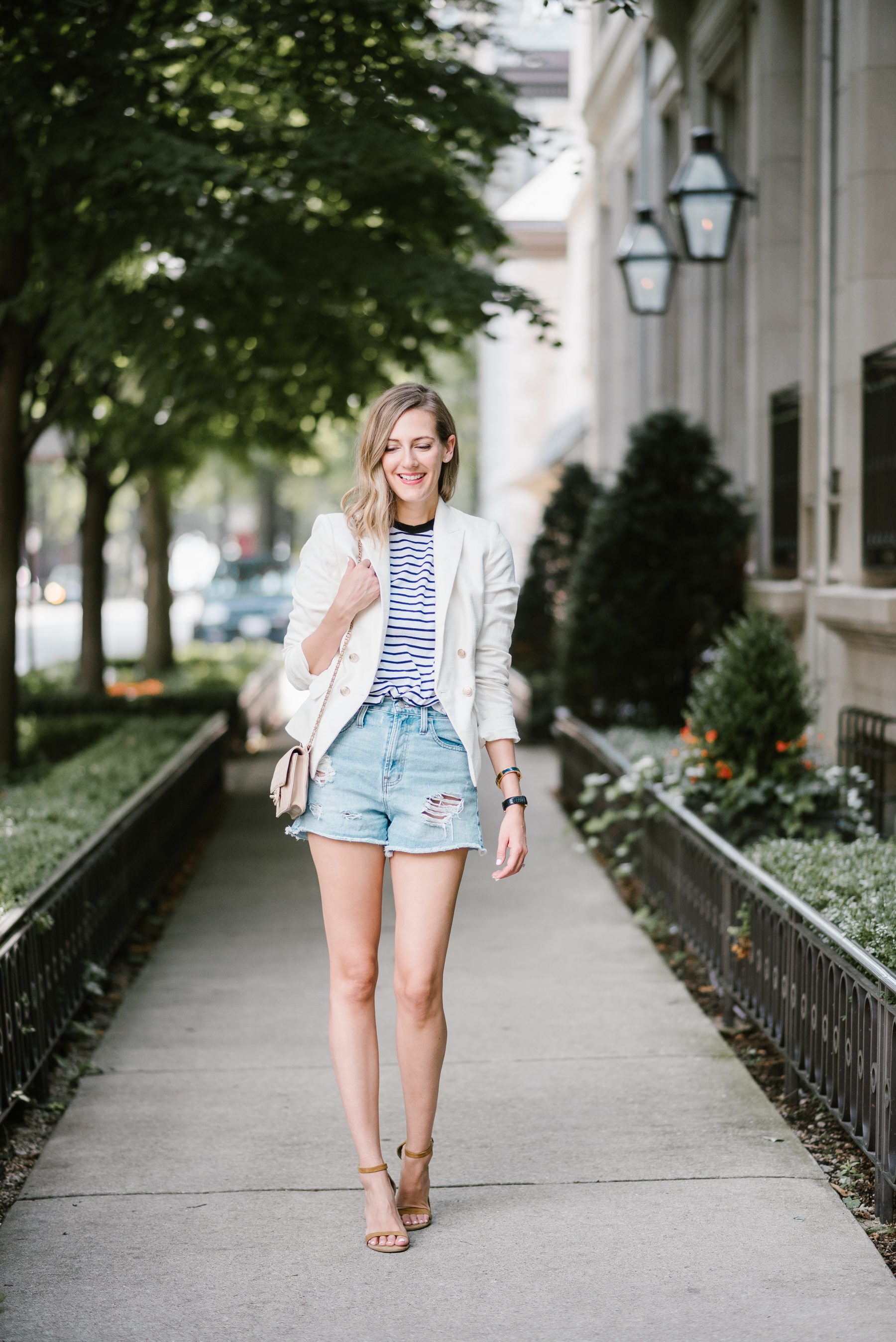 how to transition jean shorts into fall