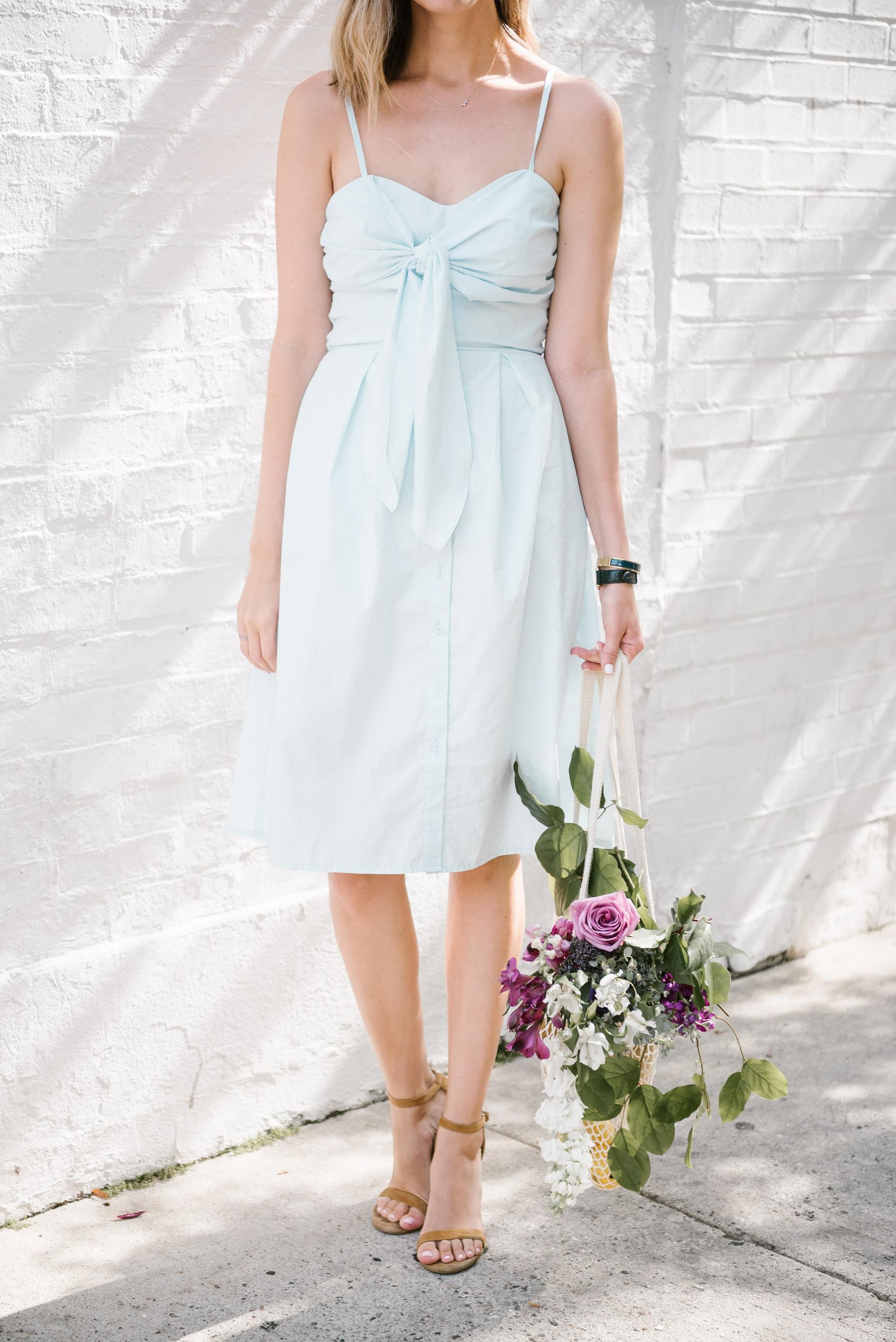 tie front dress farrow maida dress