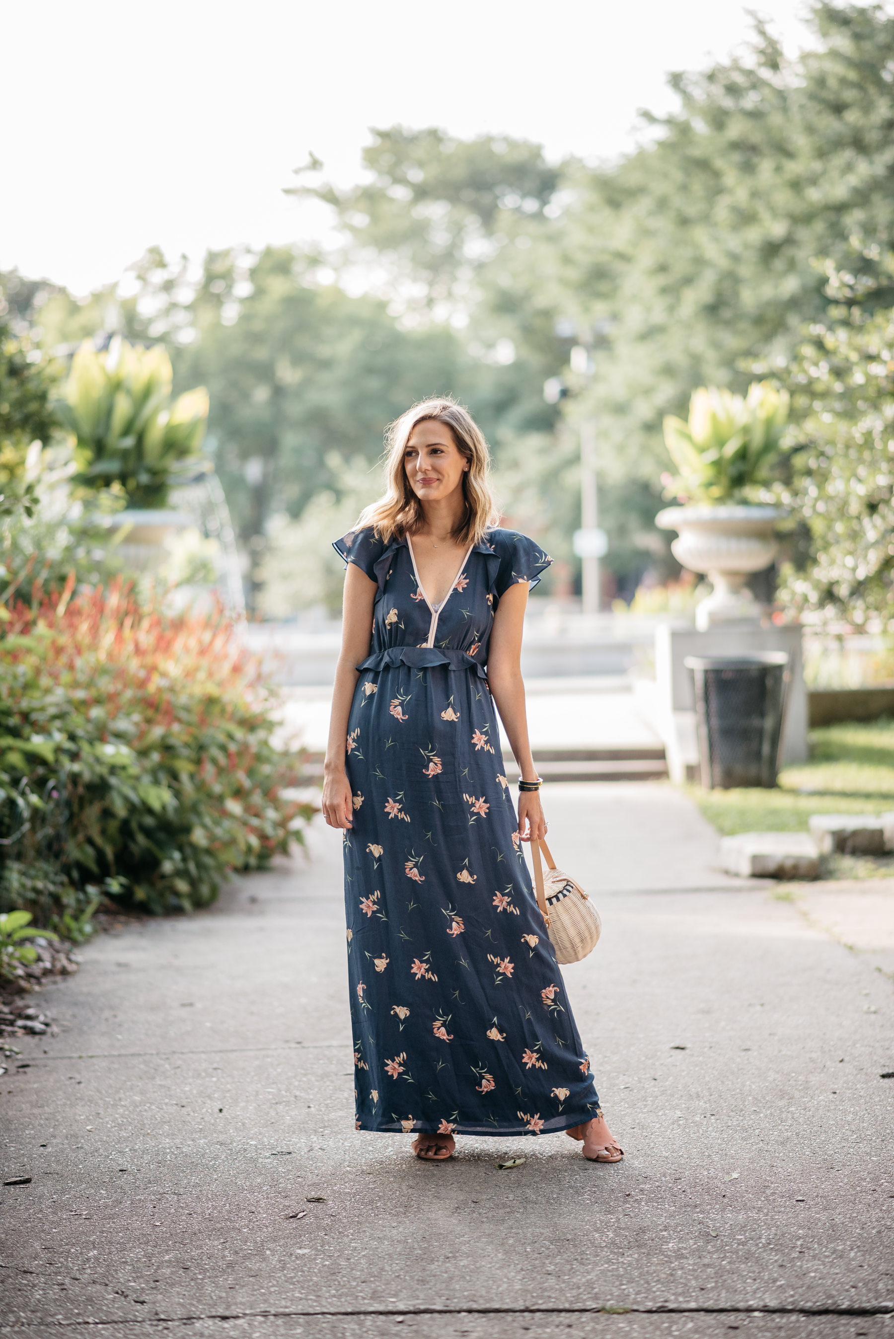 floral maxi dress summer fall