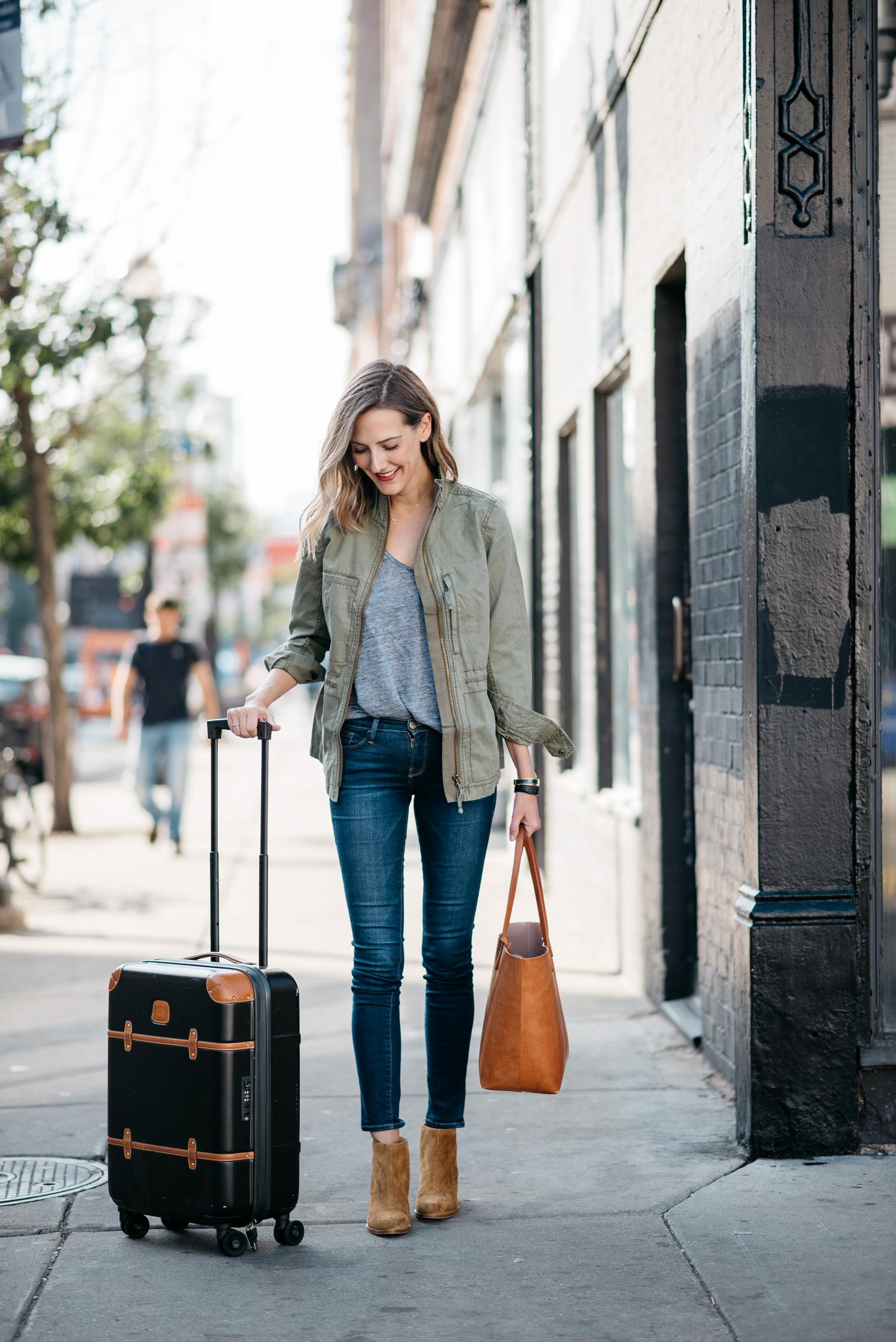 madewell jacket rag bone wesley boots brics suitcase frame denim
