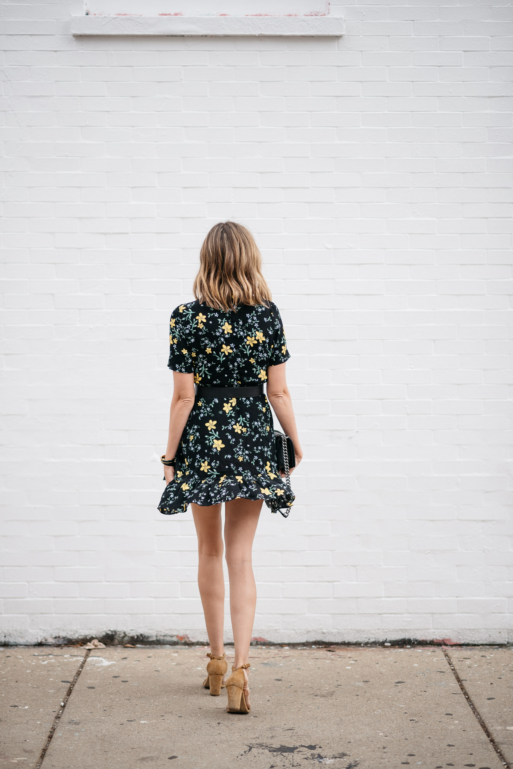 floral fall dress transition to fall
