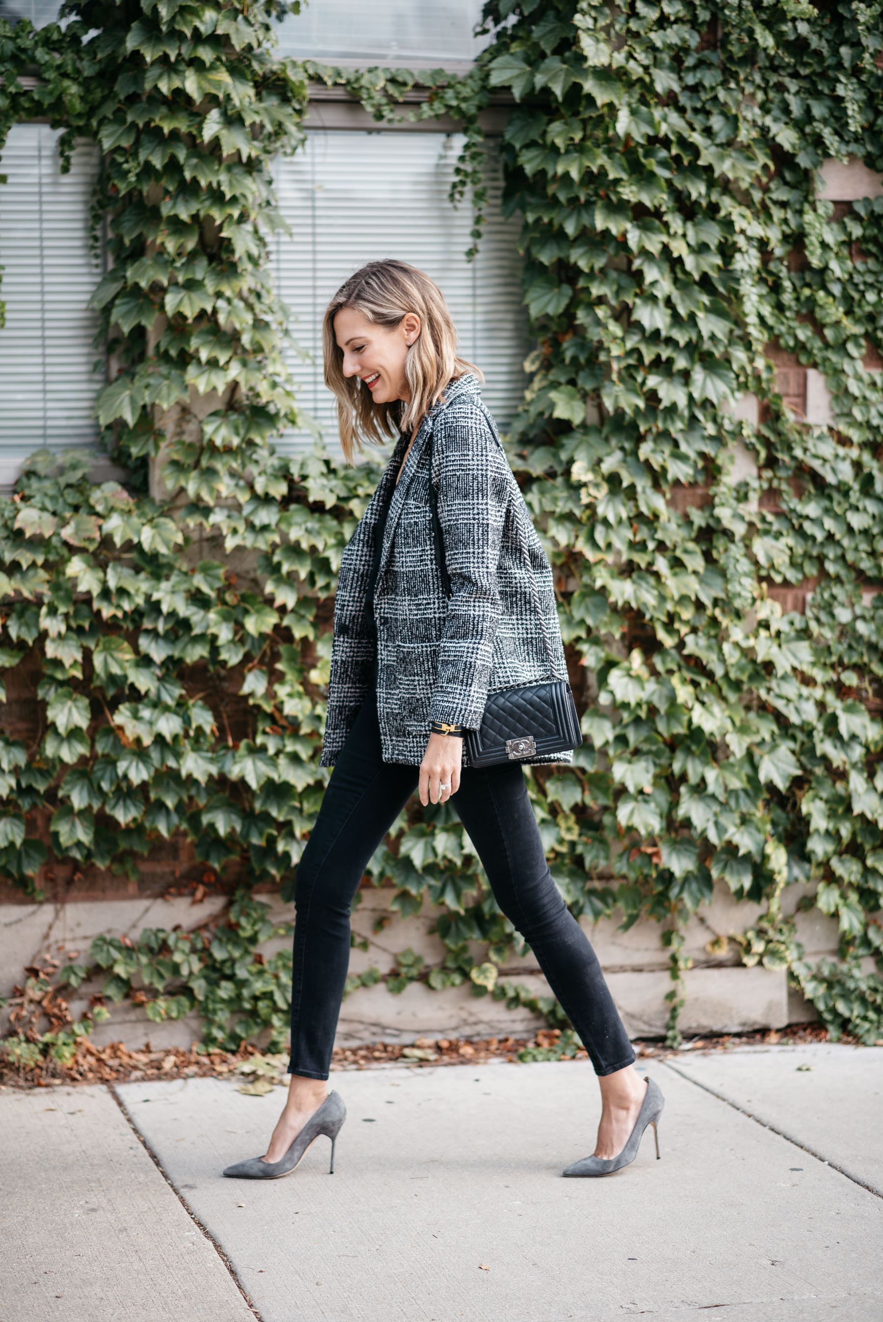 Plaid Blazer Check H Amp M Fall Fashion How To Wear Boyfriend