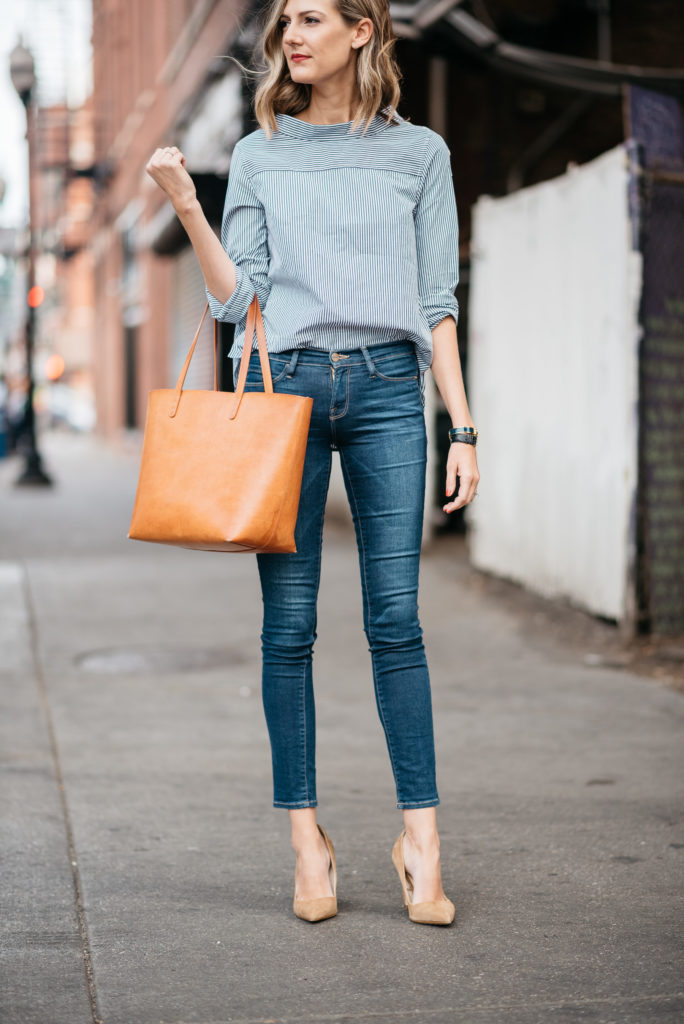 J Crew Funnel Neck Top How To Style A Mock Neck Shirt With