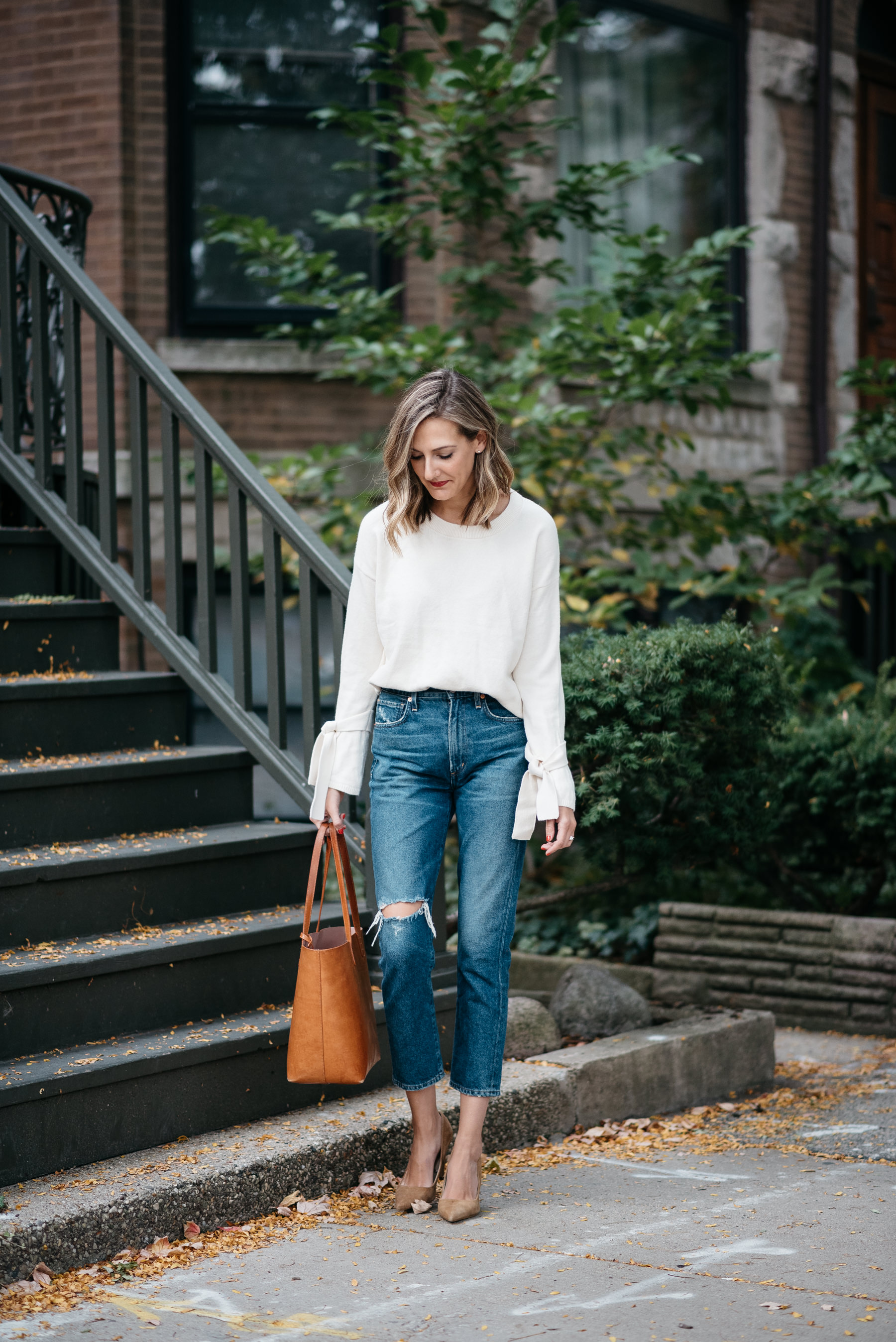 madewell sweater citizens of humanity jeans fall outfit