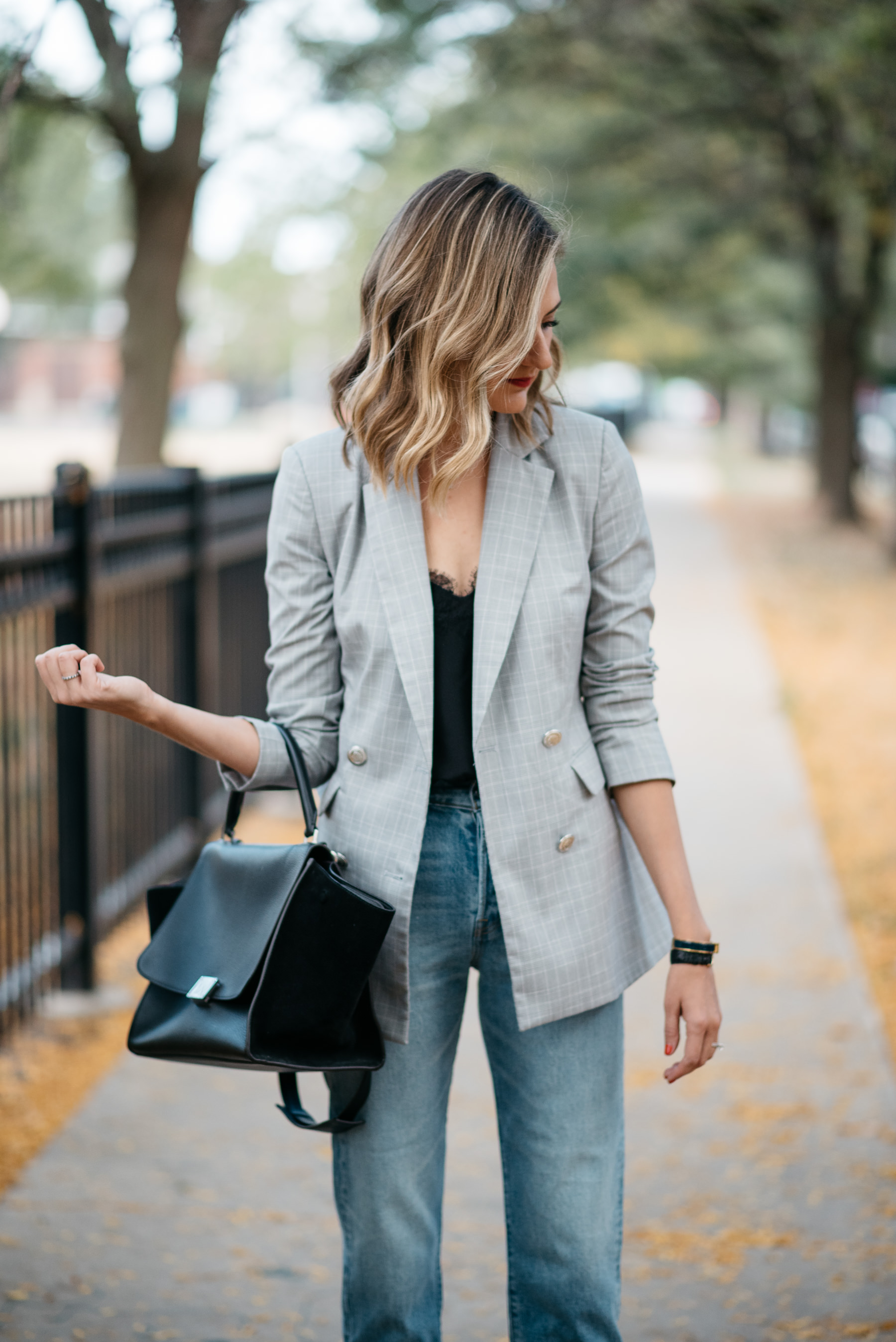 tailored plaid blazer