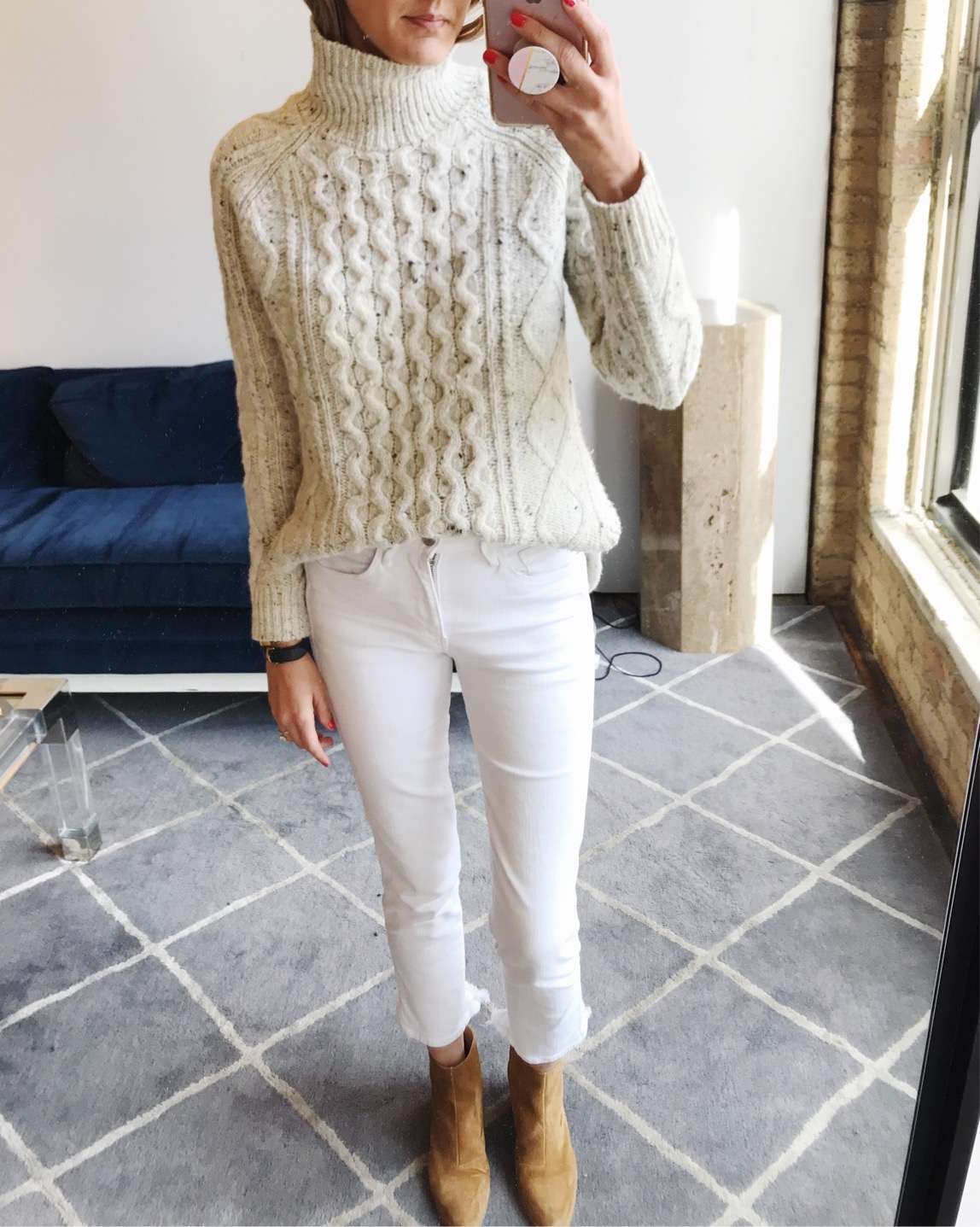 winter white outfit easy