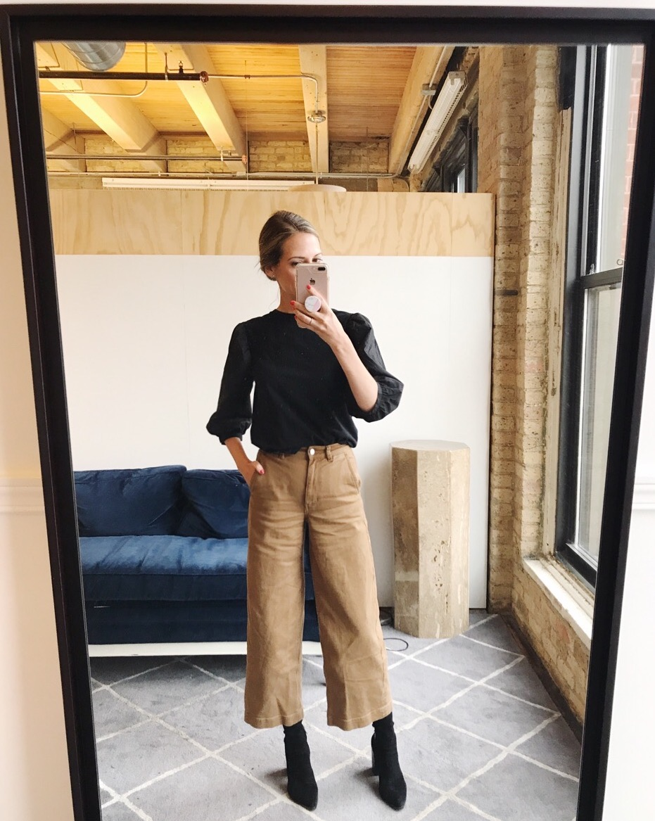 everlane cropped wide leg who what wear target