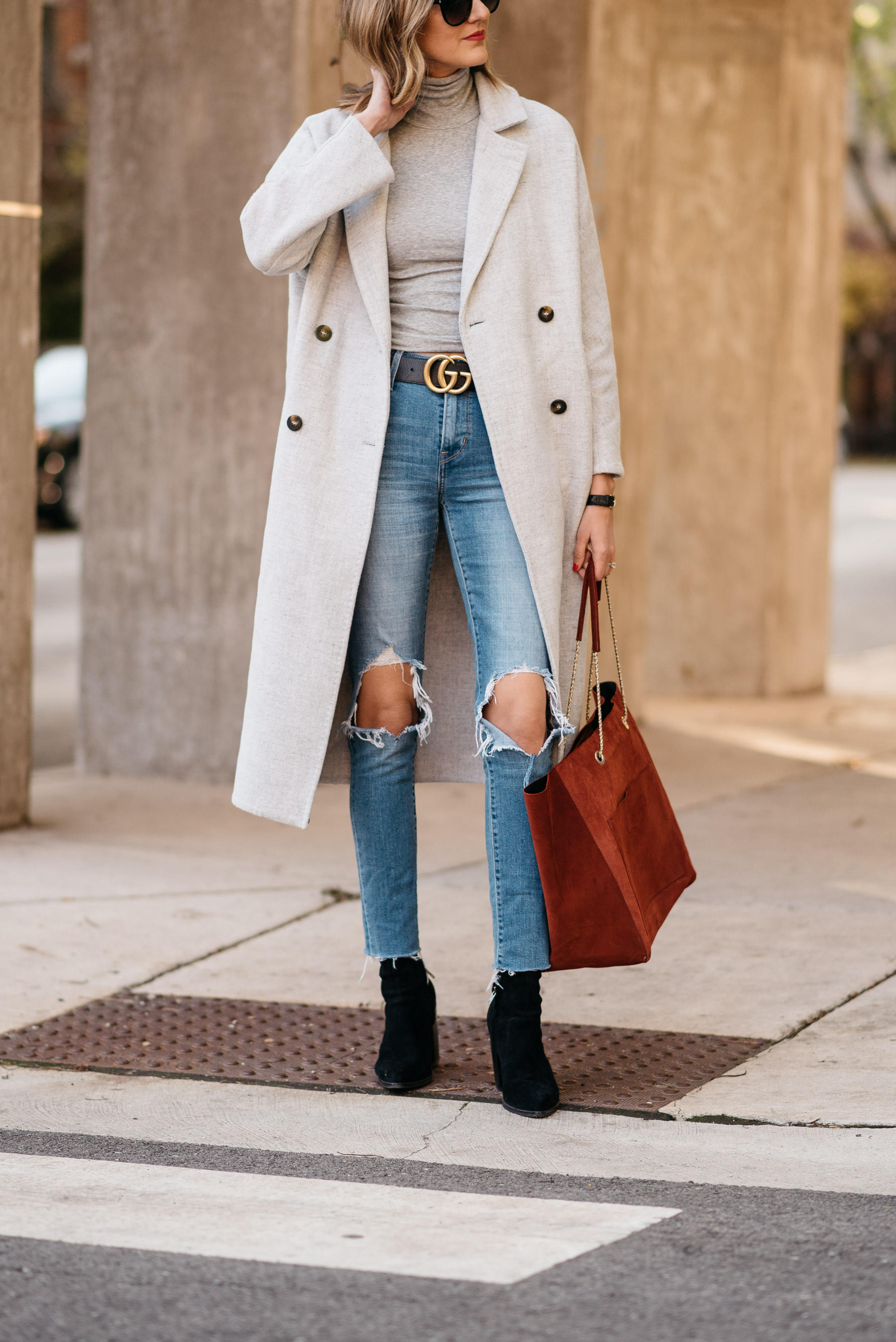 grey layers monochromatic layering zeane gucci levis