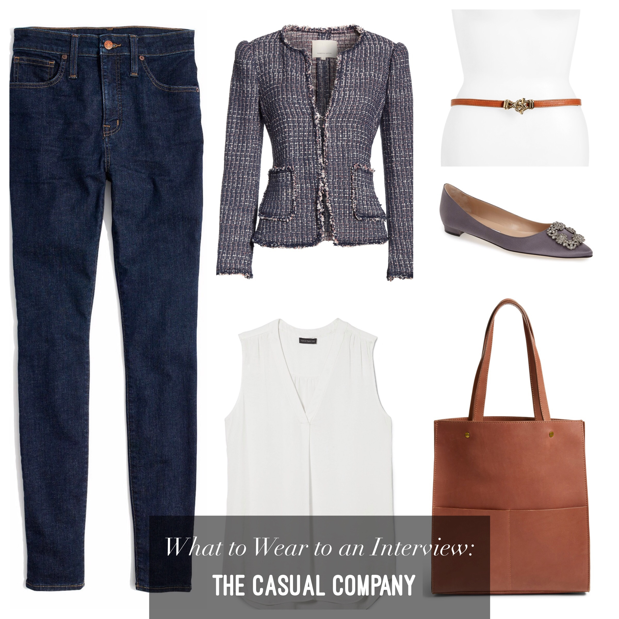 what to wear to an interview jeans casual company start-up