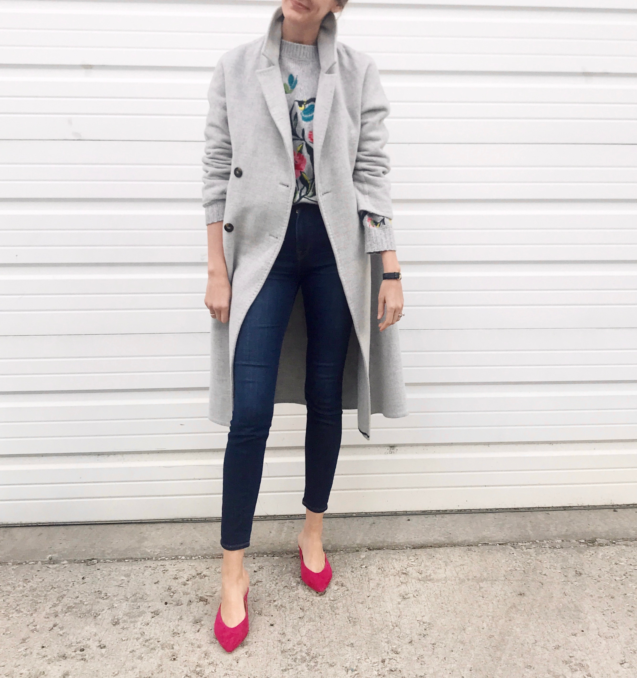 sezane coat club monaco mules