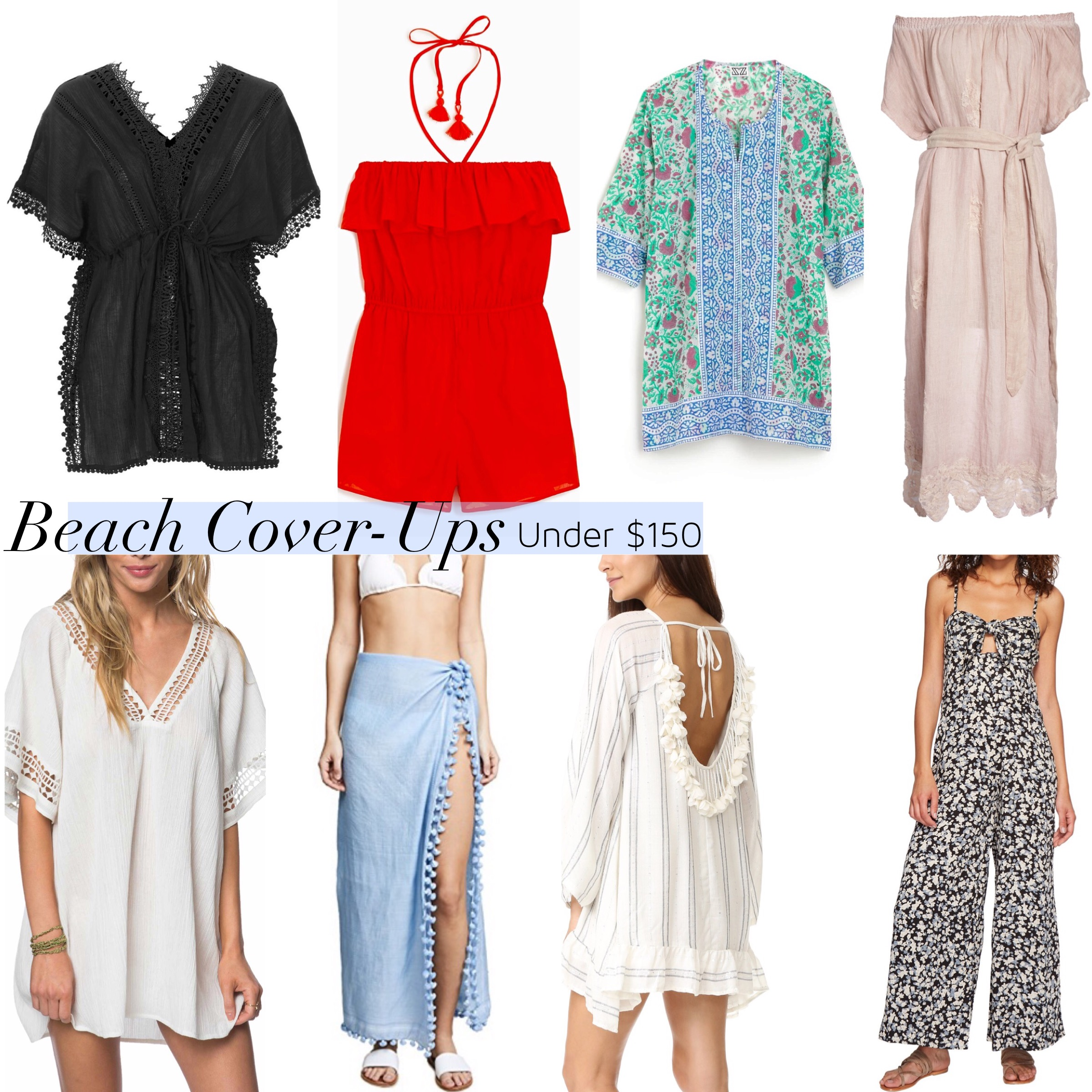 cute beach swim cover-ups under $150