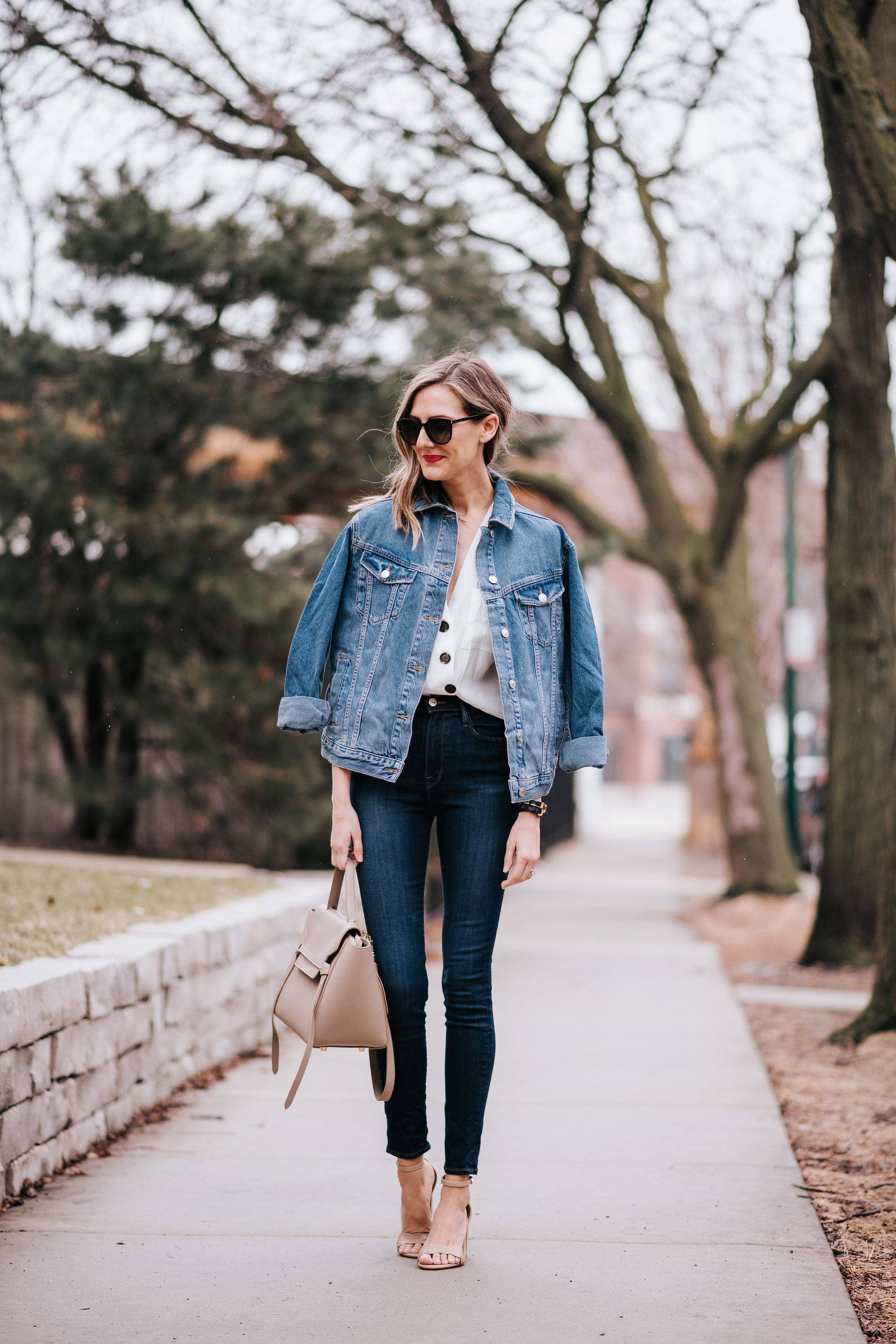 topshop oversized denim jean jacket