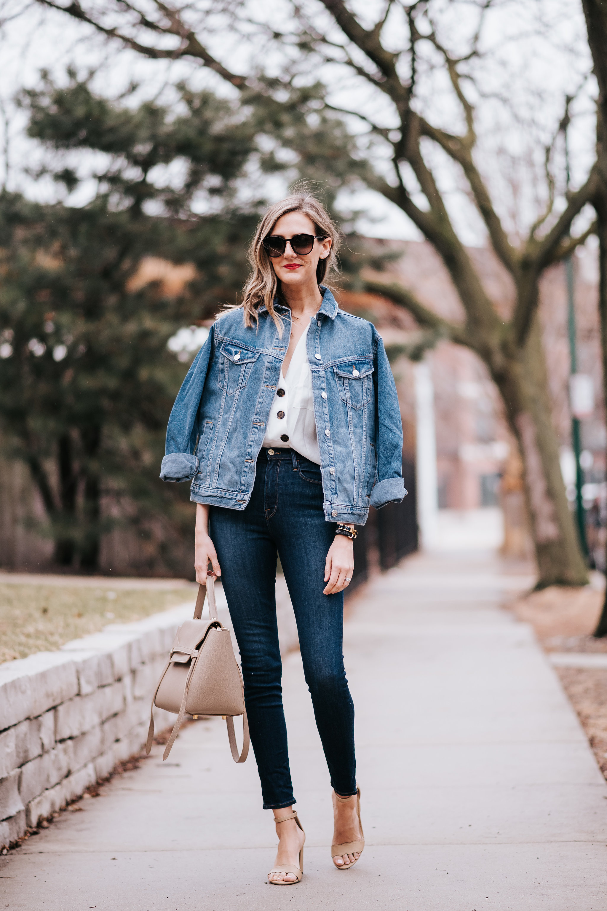 how to wear oversized jean jacket denim topshop for spring