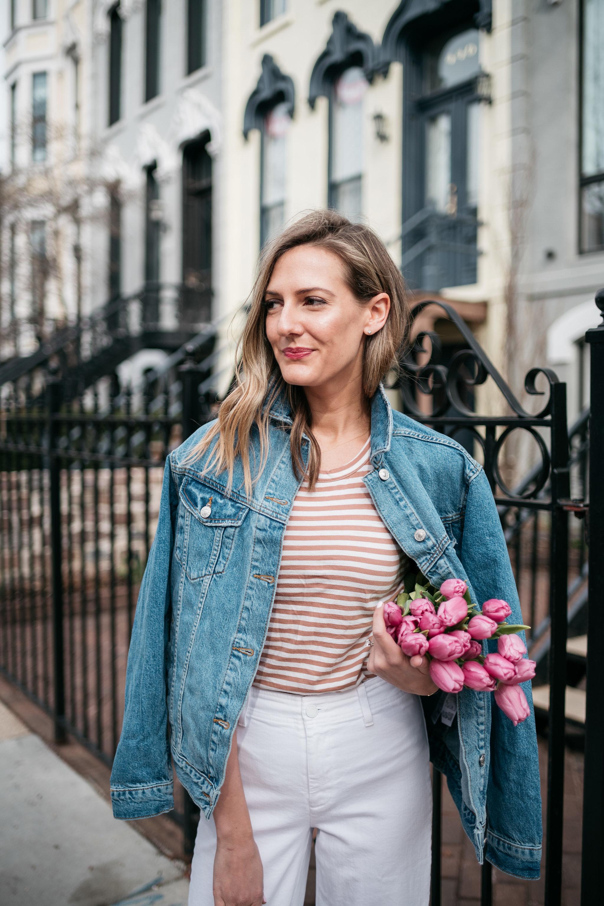how to wear oversize denim jacket