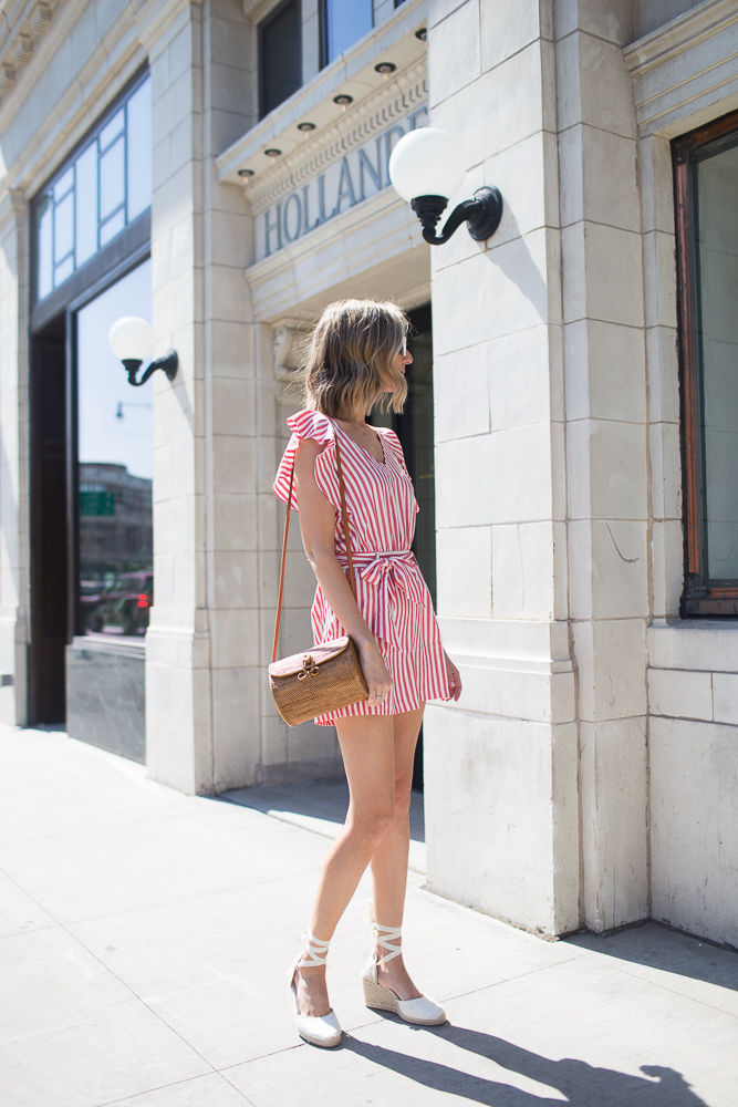 summer romper striped