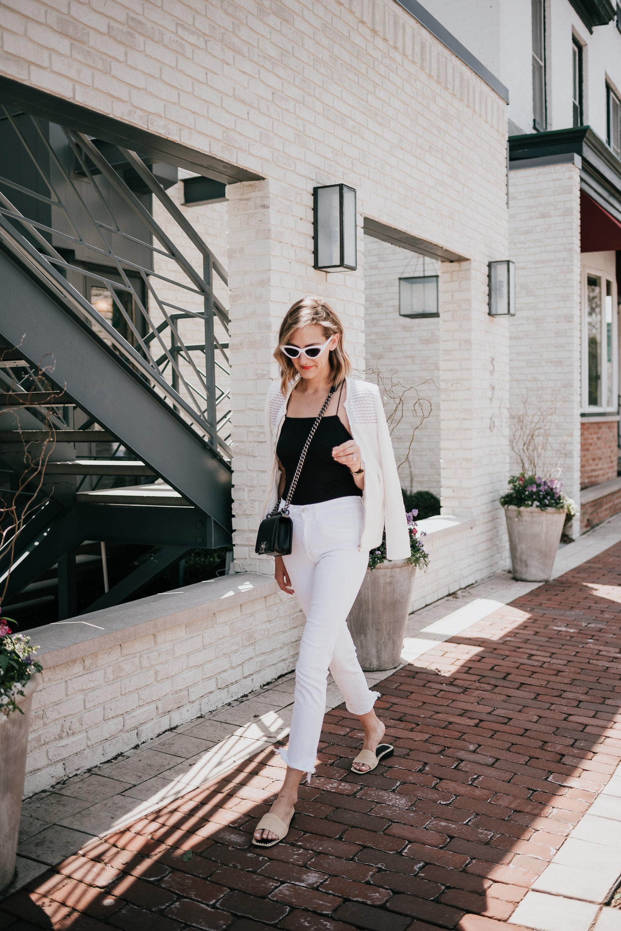 all white on white black