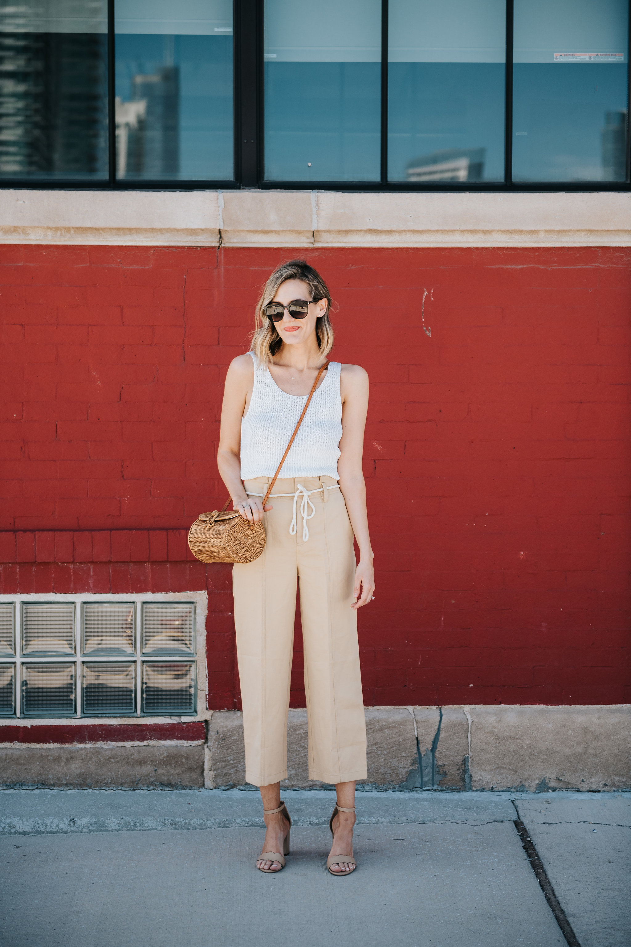 vince tank pants classic summer outfit linen