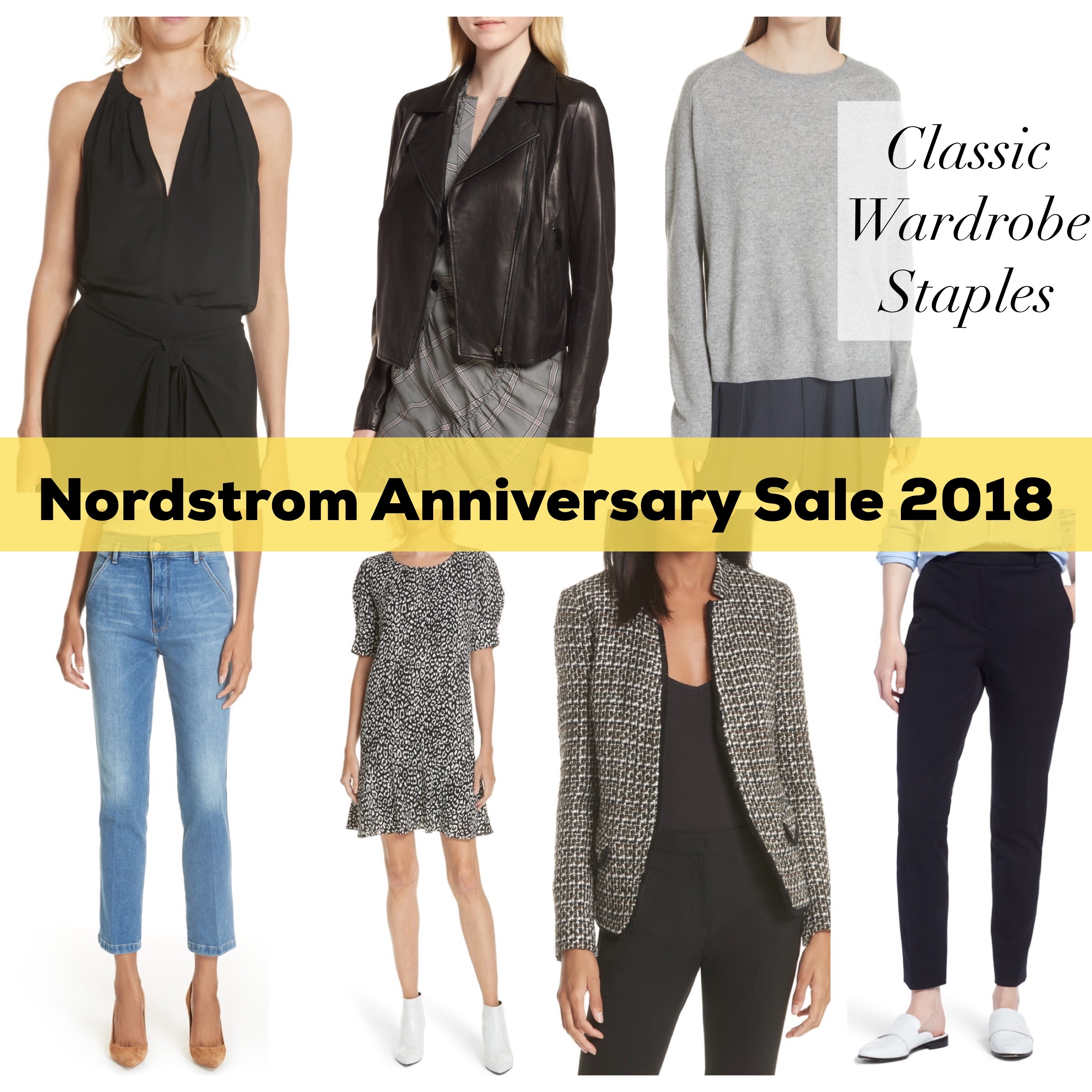 nordstrom anniversary sale 2018 wardrobe classic staples