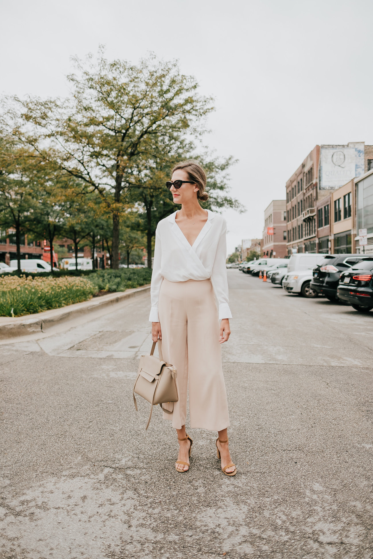 how to wear culottes at work