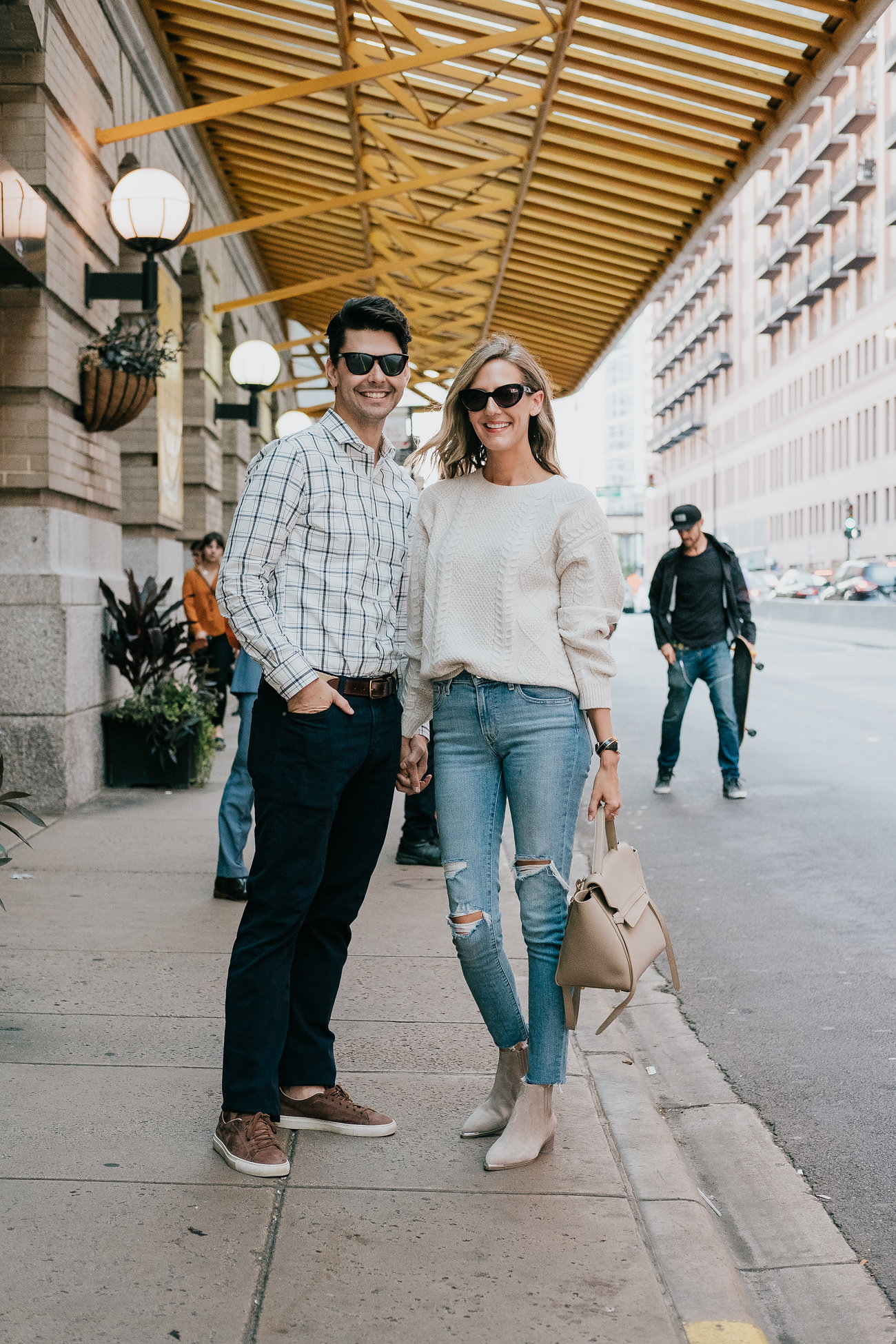couple coordinated outfits engagement photos outfit ideas