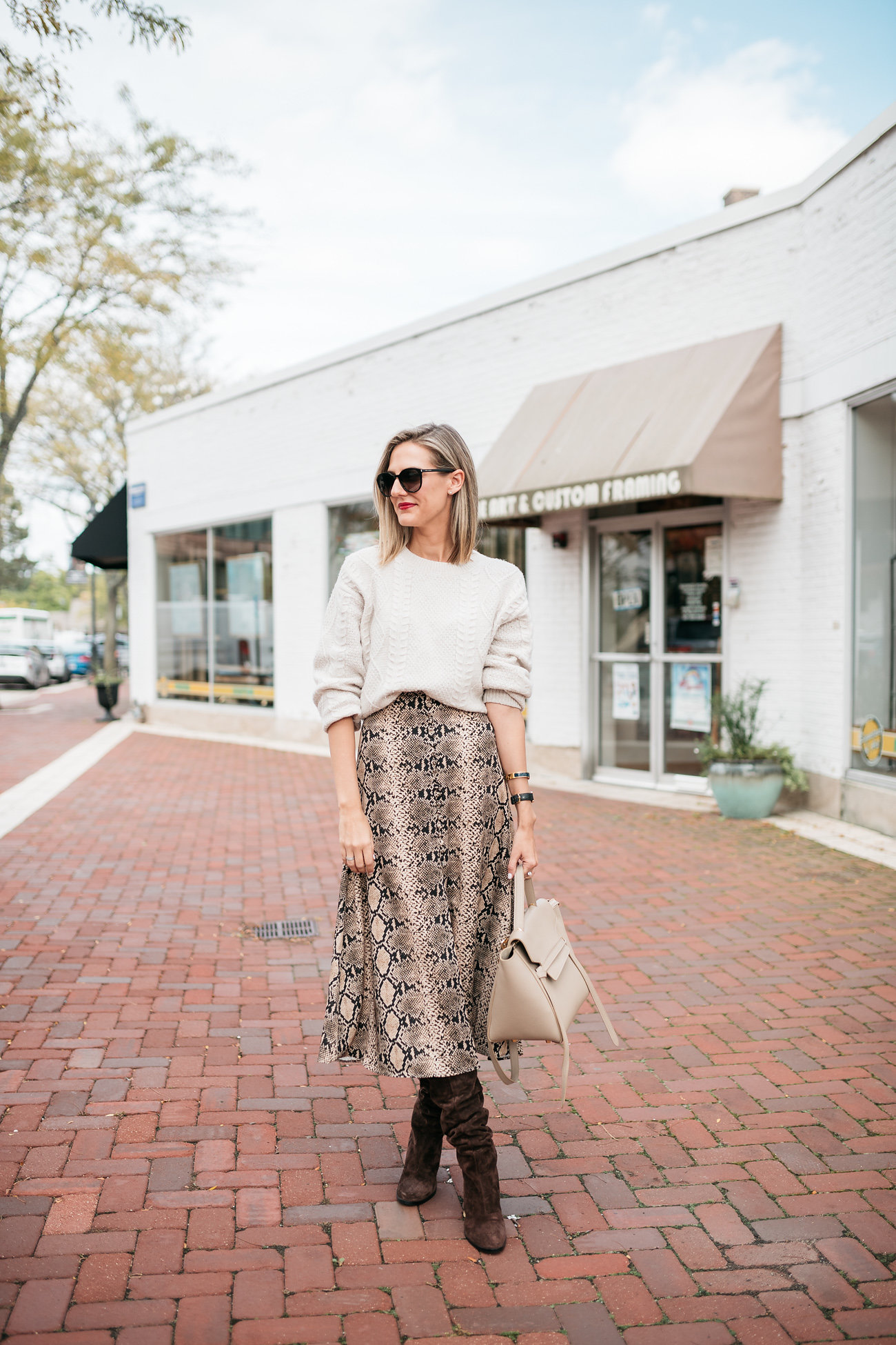 e674b8155 snakeskin print skirt midi zara how to wear in fall - See (Anna) Jane.