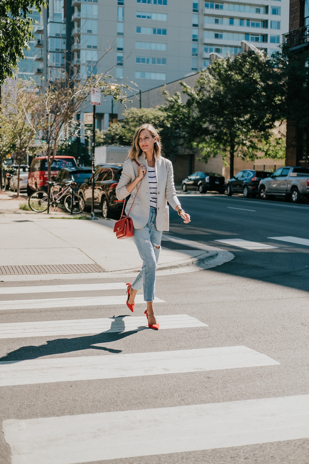 classic chic all season outfit
