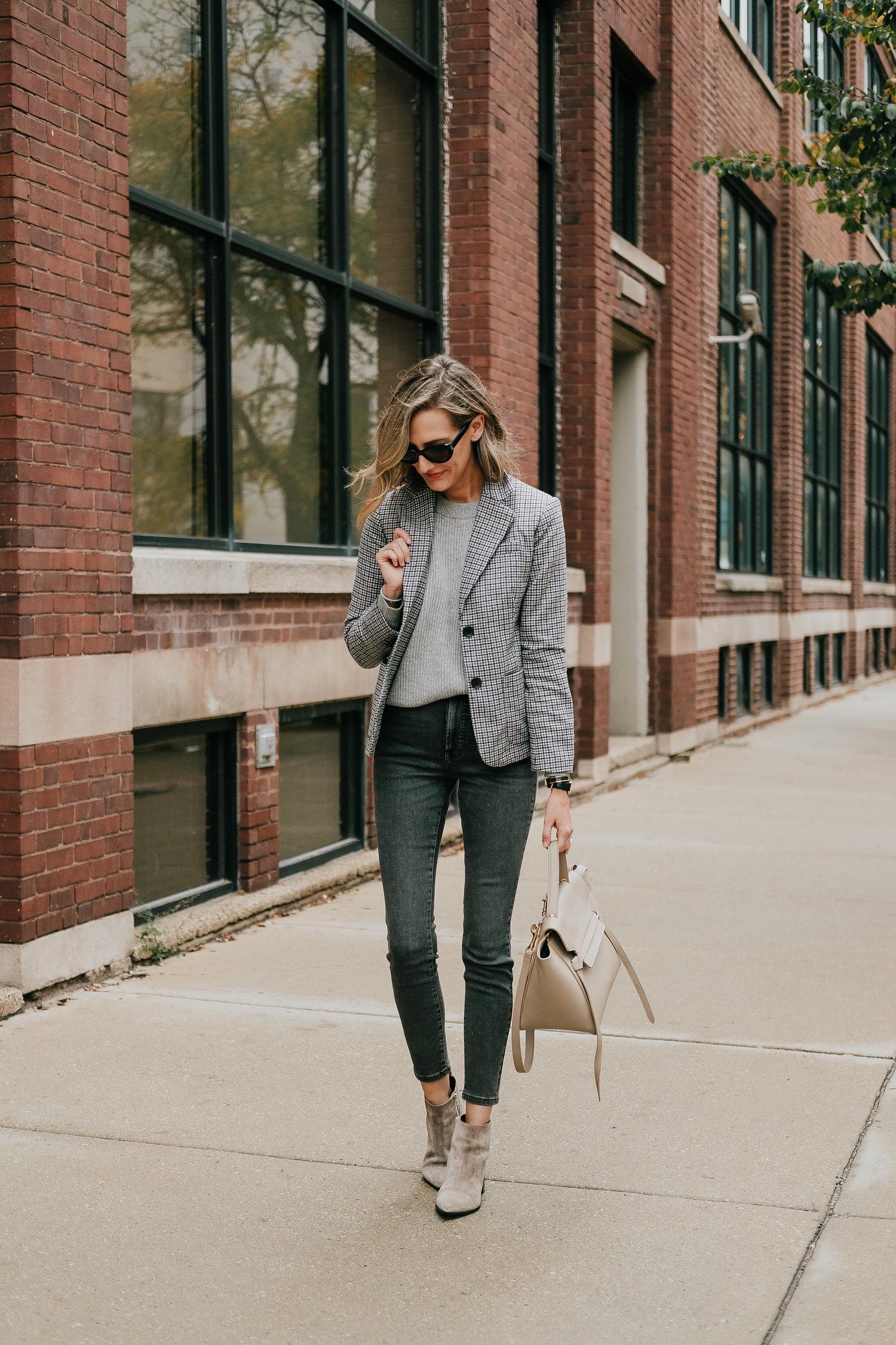 preppy blazer outfit