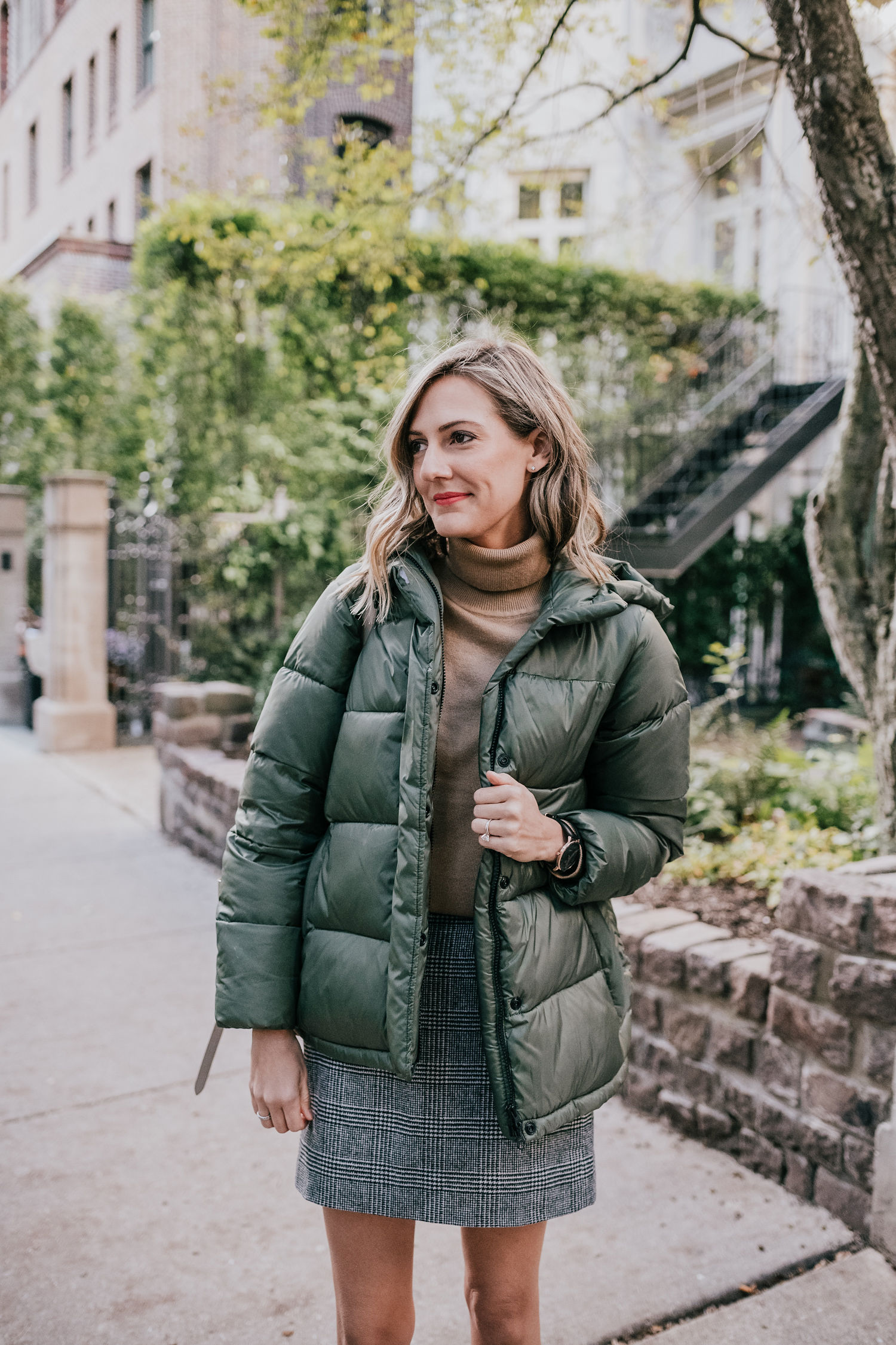 everlane renew how to style a puffer coat