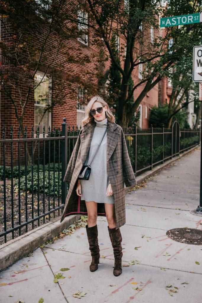 how to wear a turtleneck sweater dress