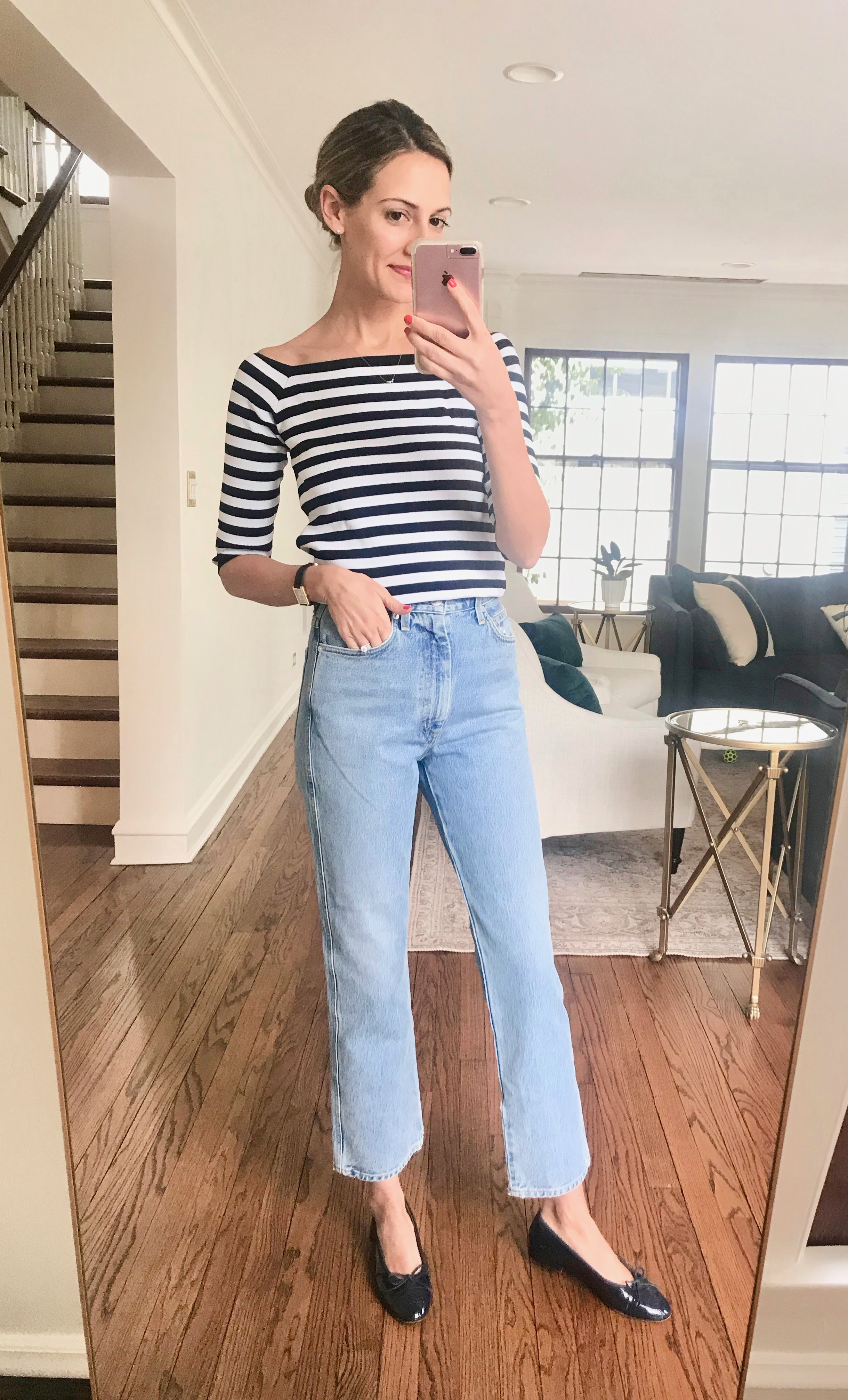 how to wear striped top