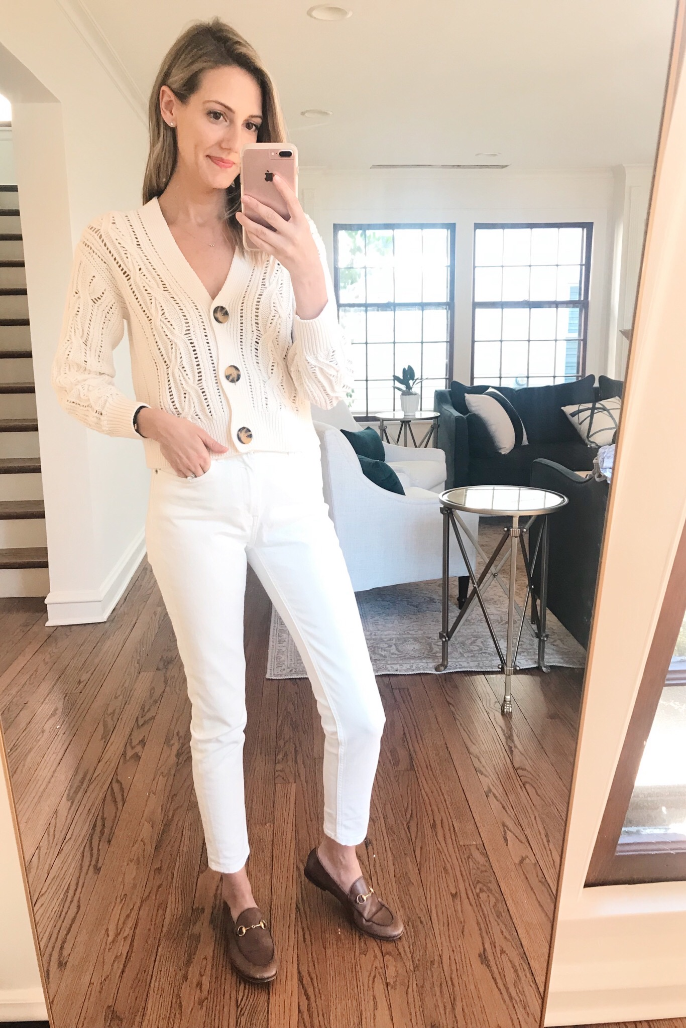 white outfit H&M spring outfit
