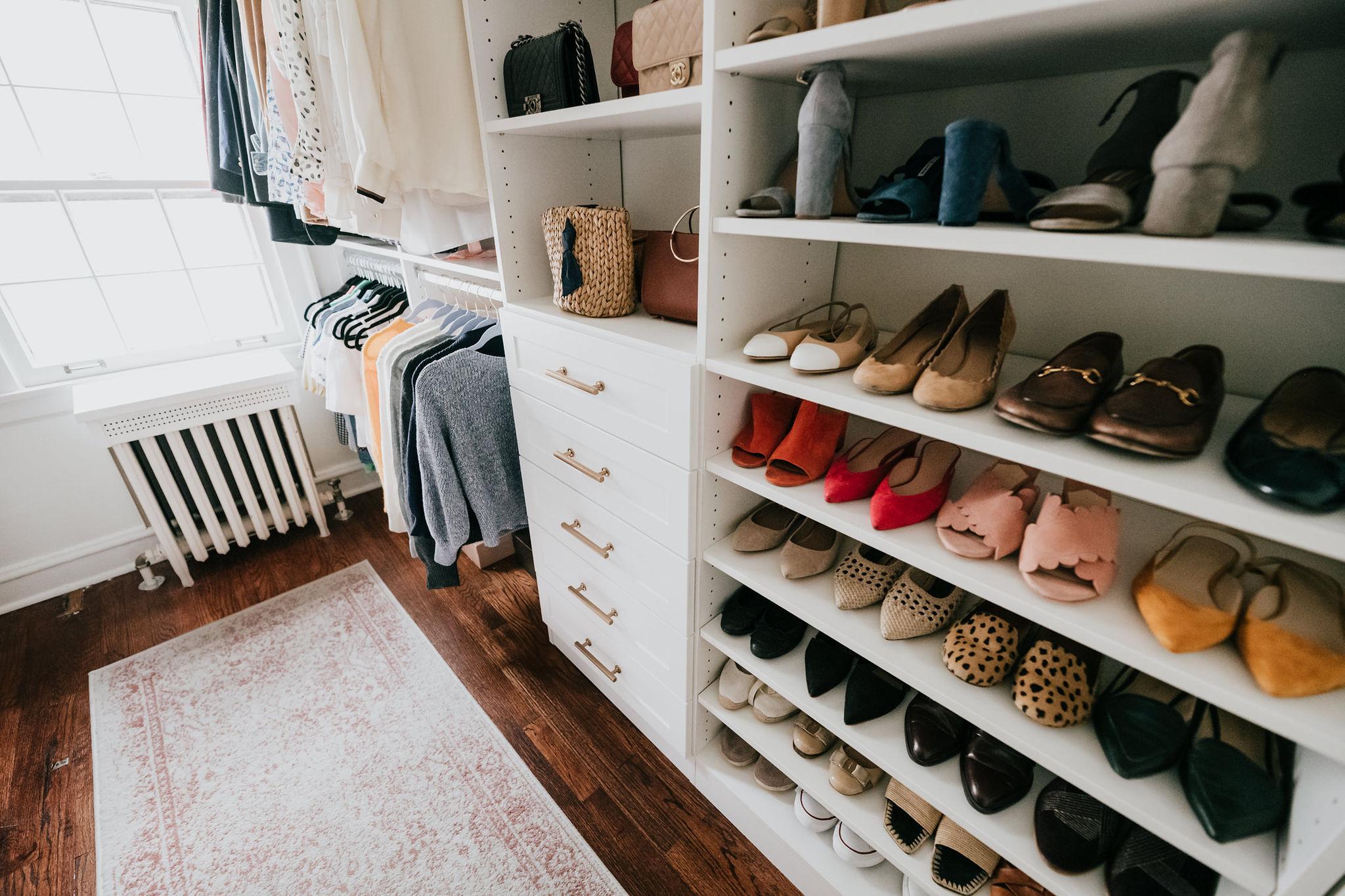 walk-in closet renovation master bedroom old home