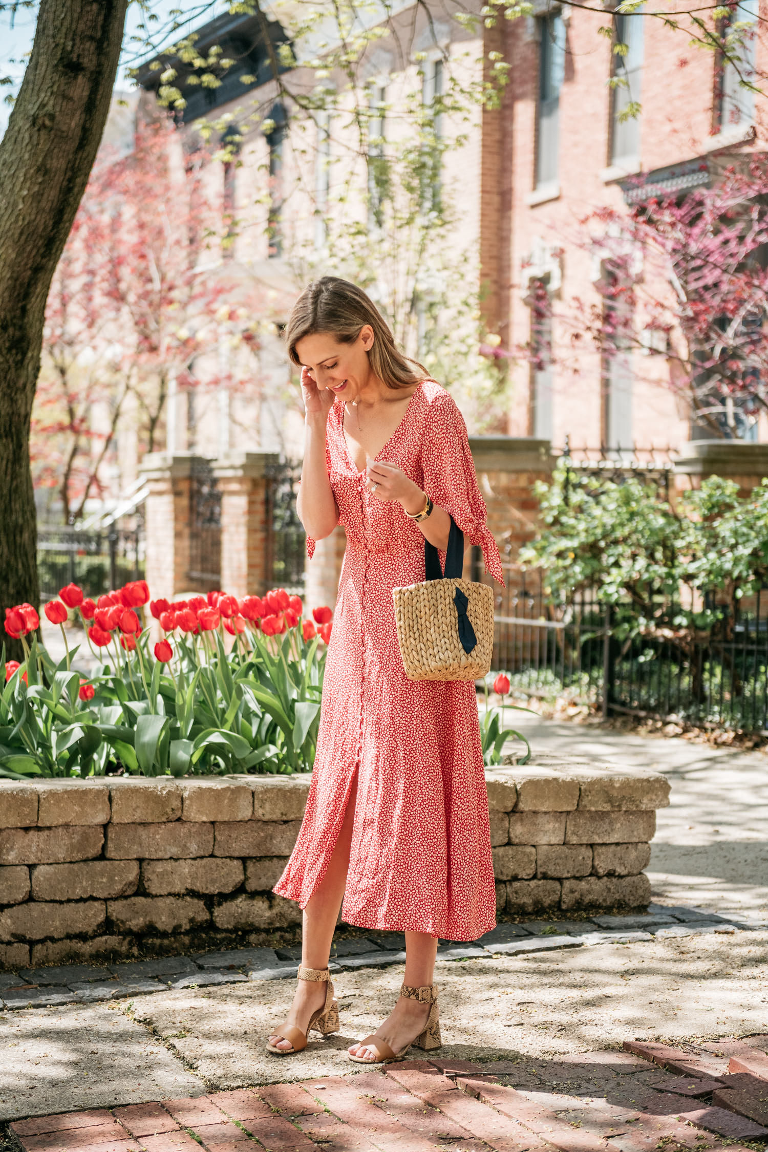 working mom style feminine dress mother's day