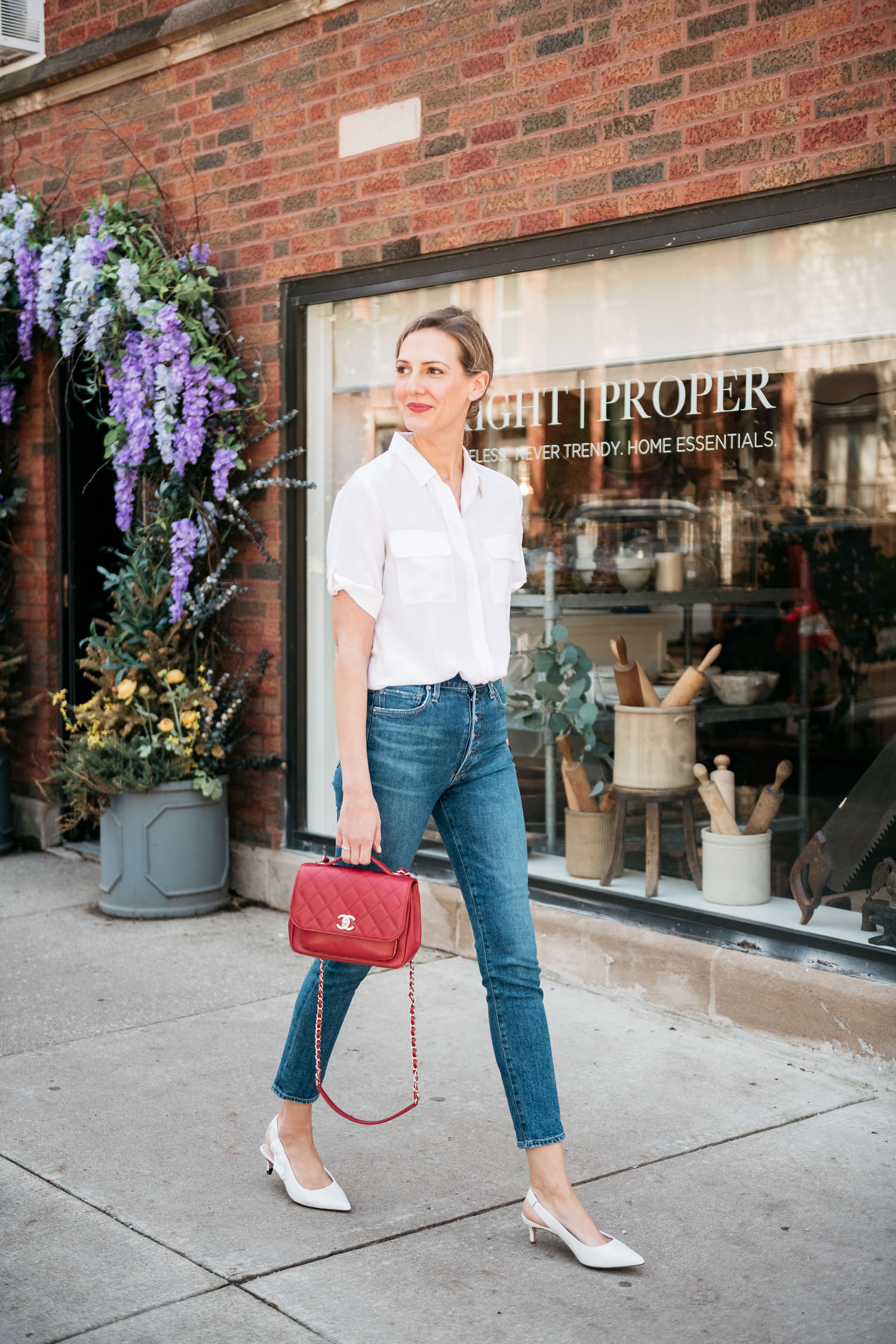 working mom style classic chic