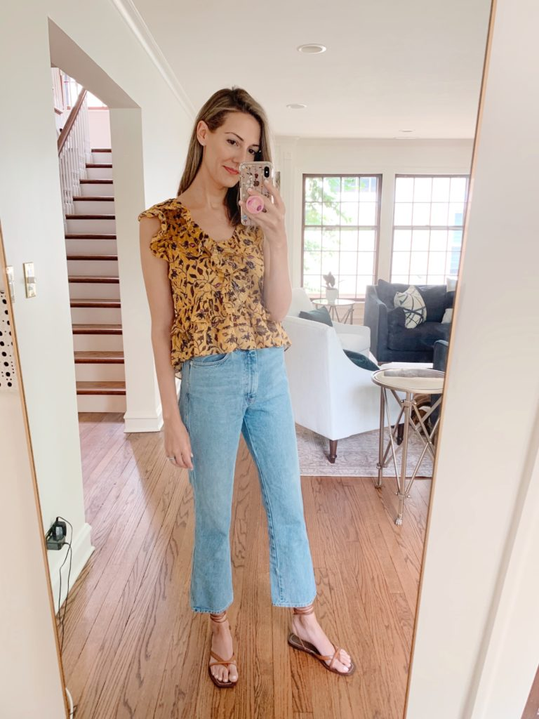 date night jeans wrap sandals