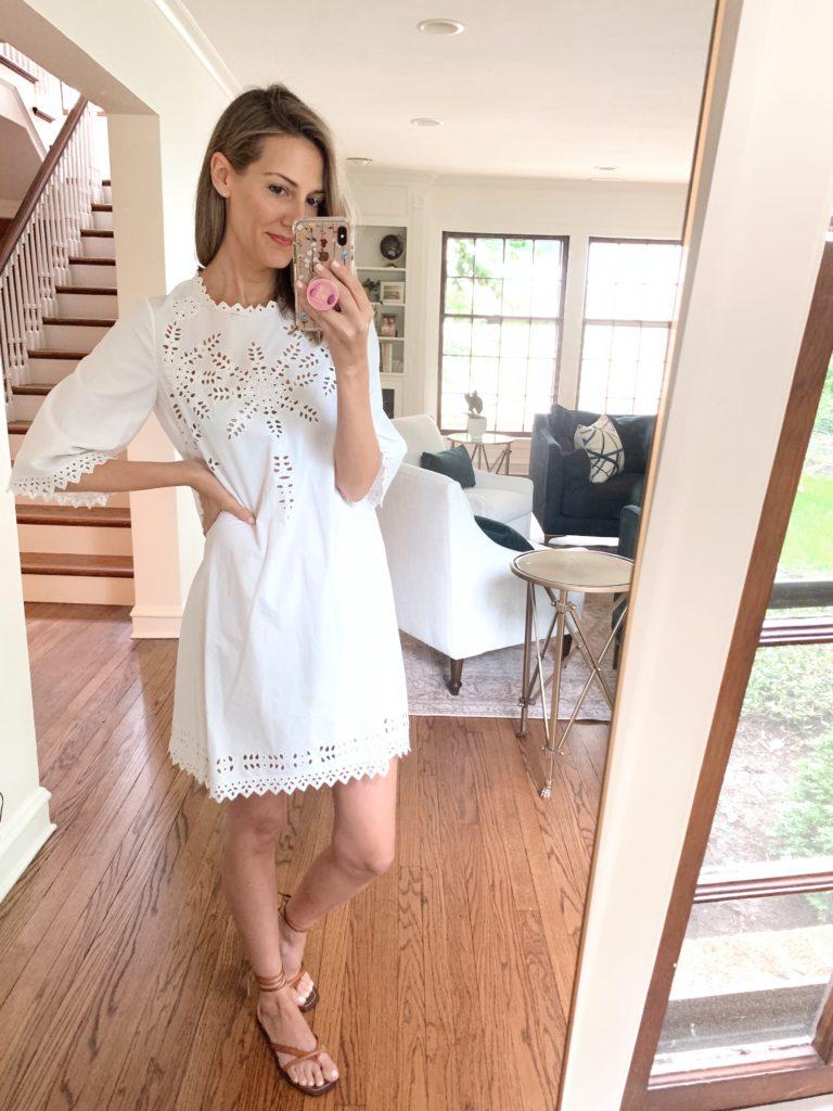 white poplin dress isabel marant