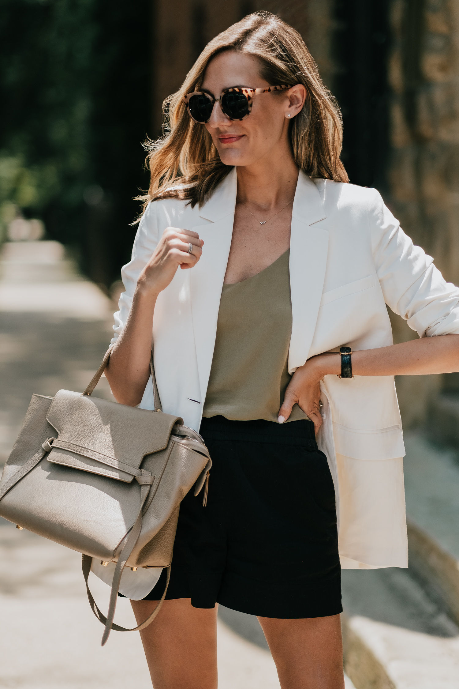 everlane blazer and cami