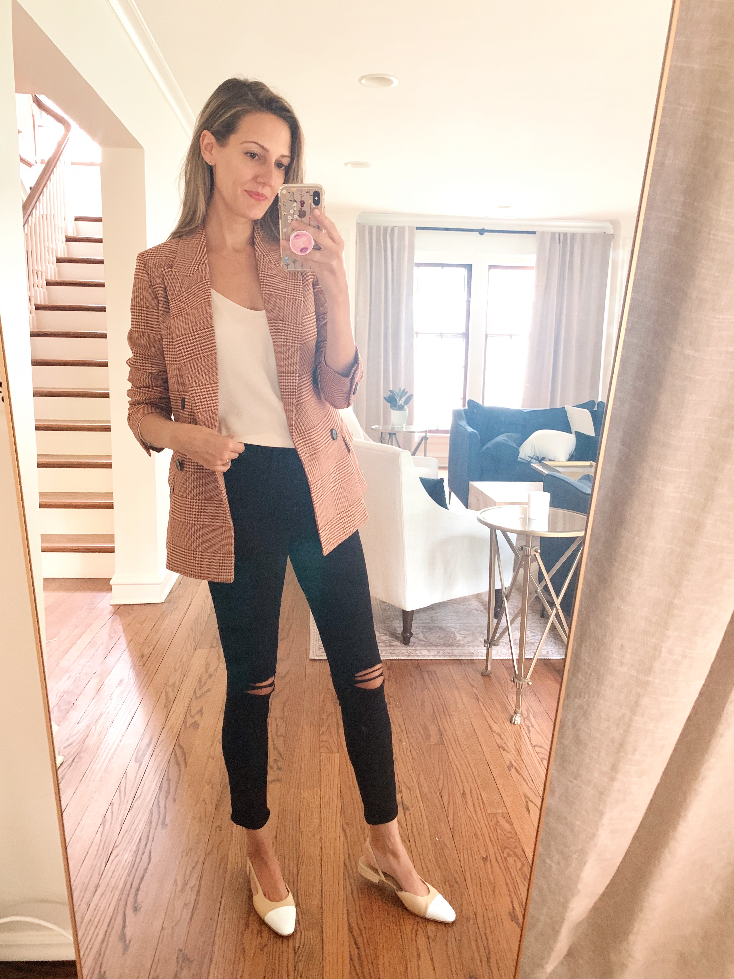 fall blazer outfit