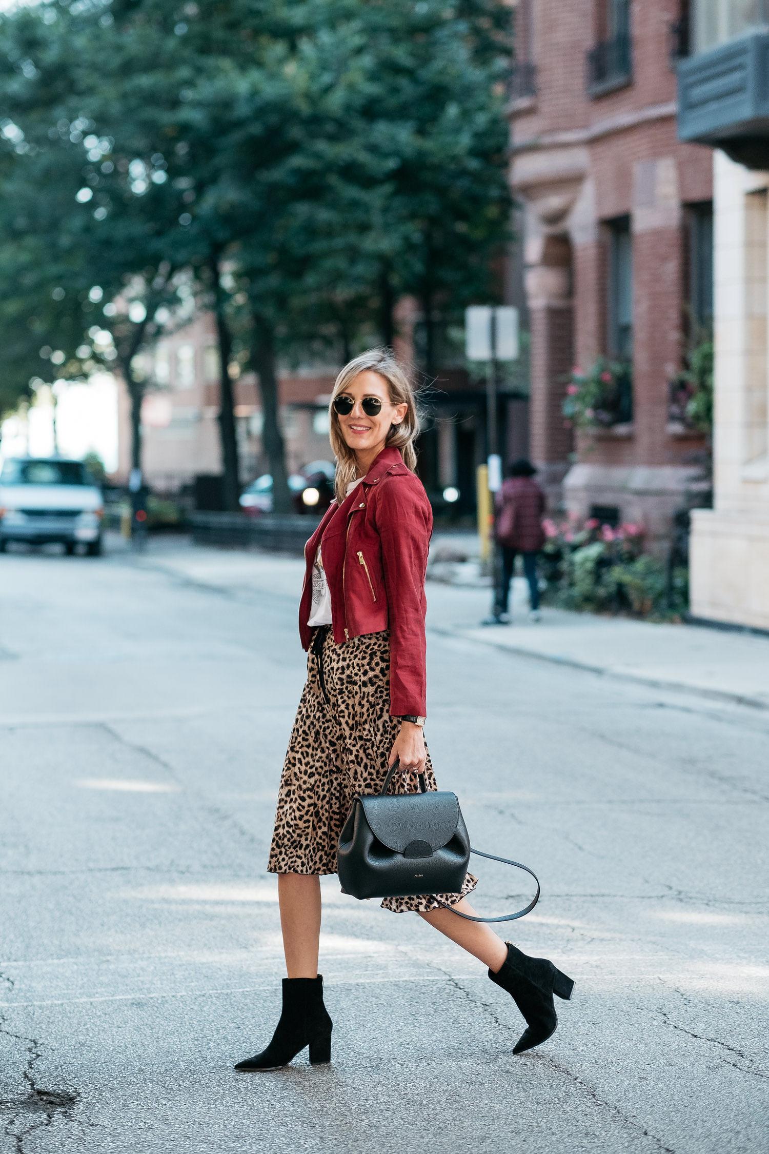 midi skirt fall style