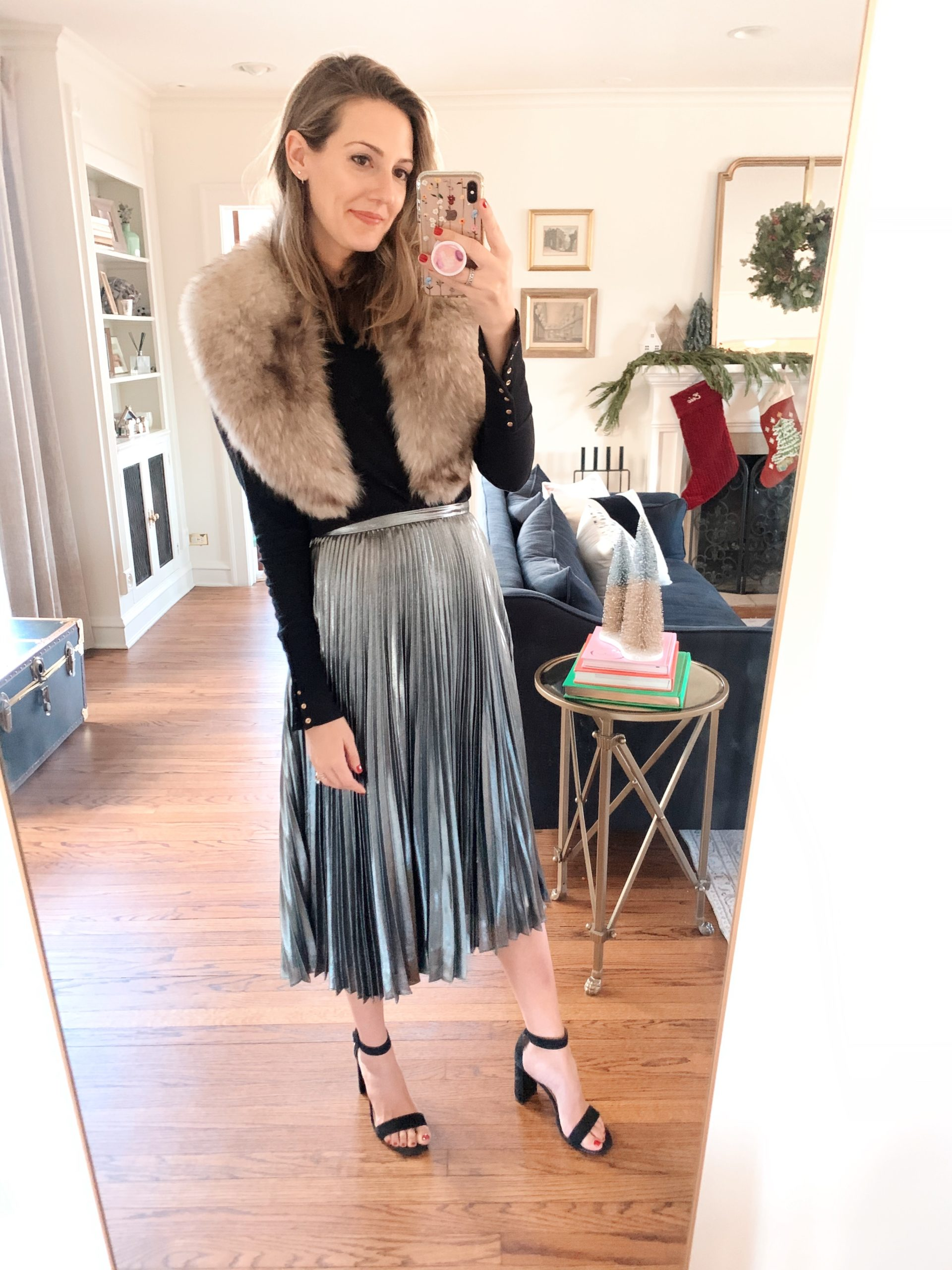 winter midi skirt