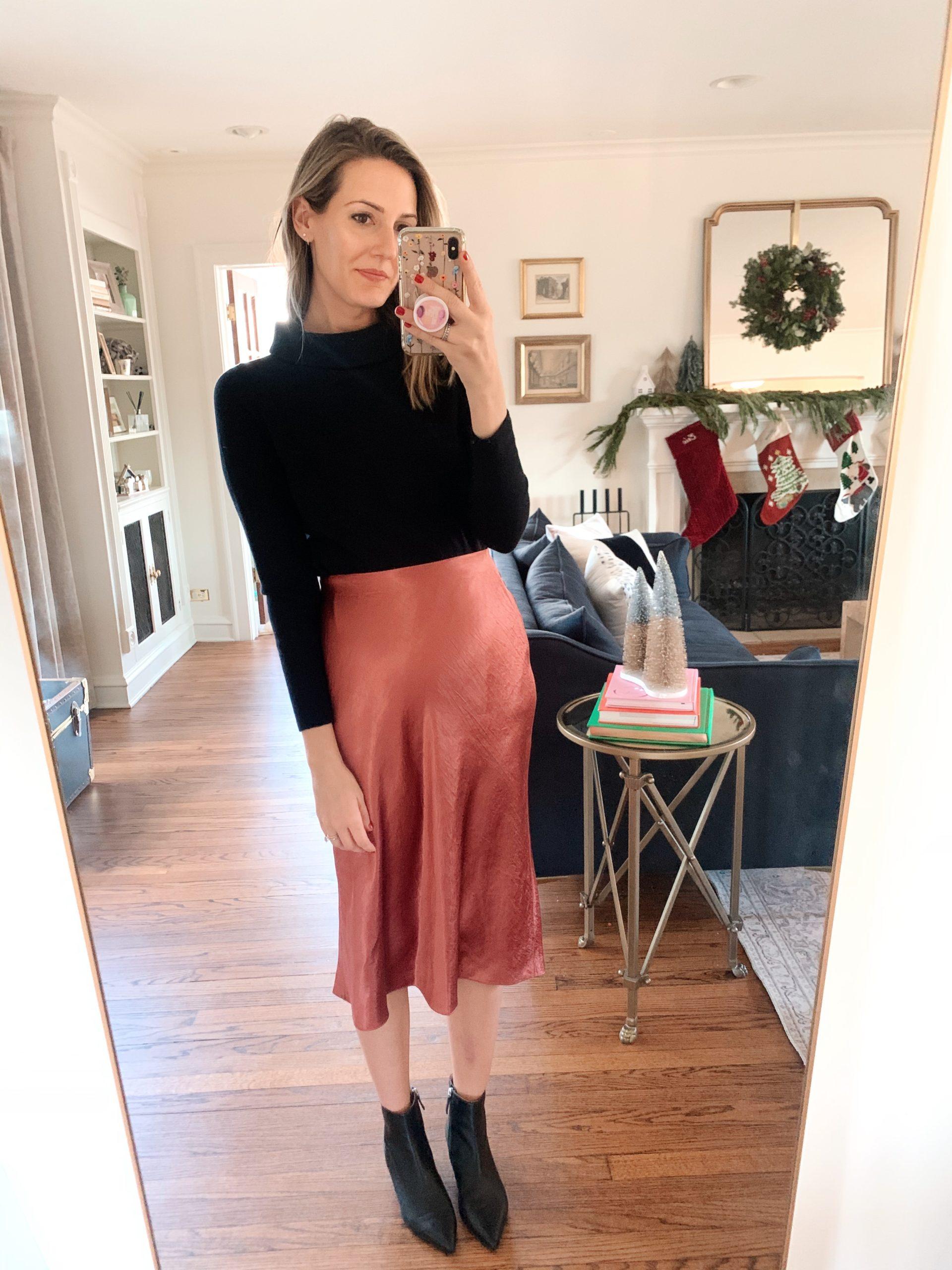 slip satin skirt