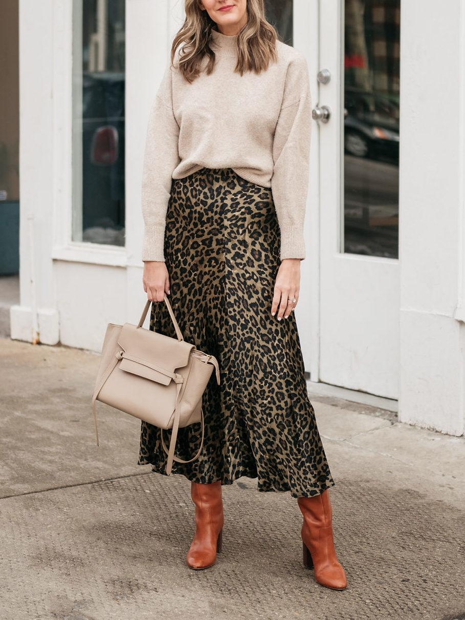 style leopard print skirt