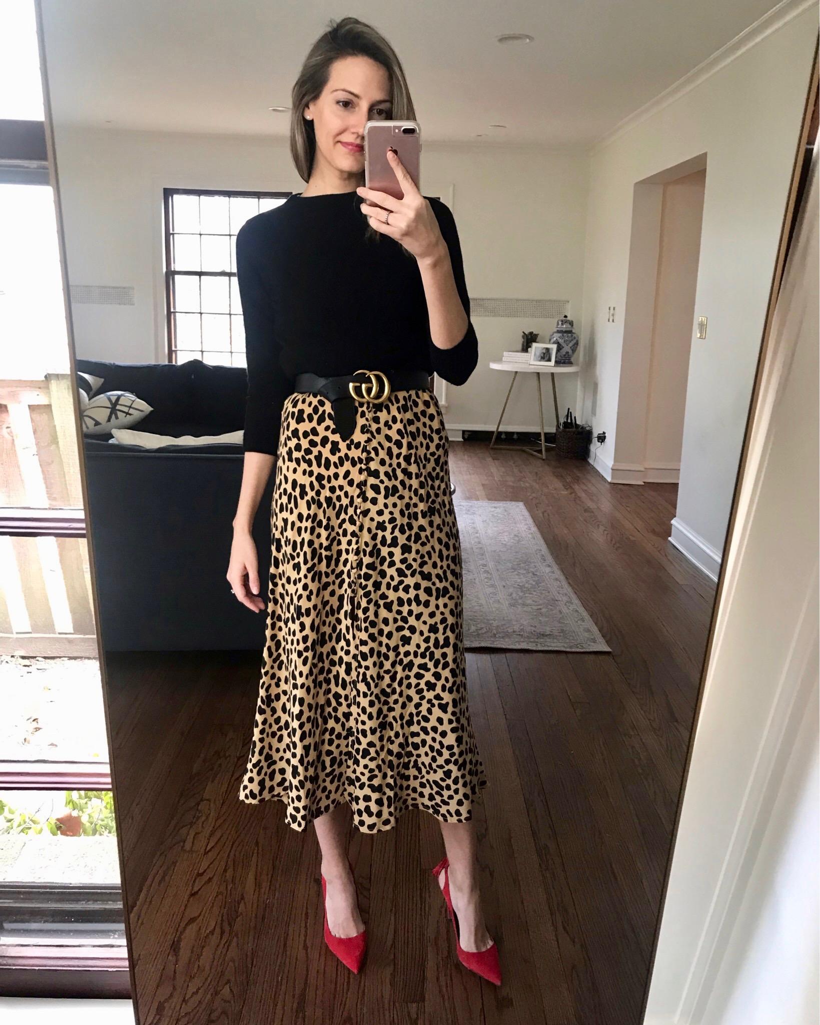 leopard print skirt style